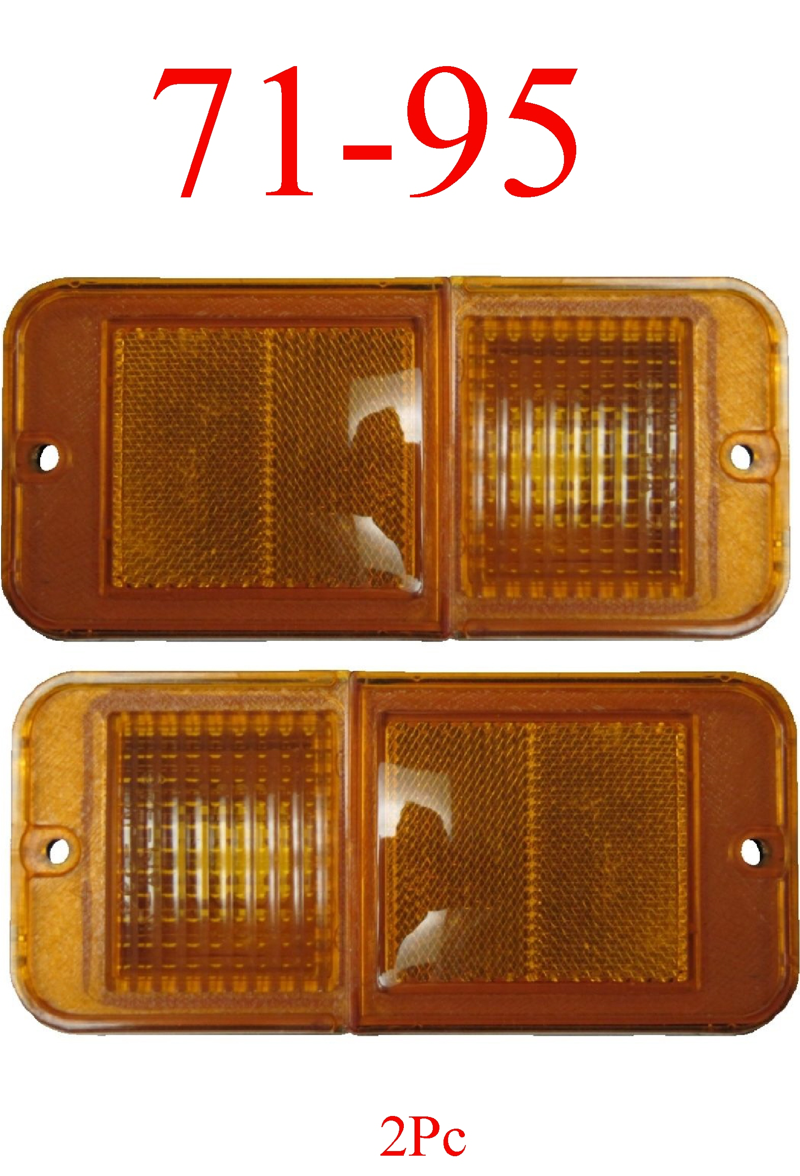 71-95 Chevy Van 2Pc Standard Amber Front Side Lights