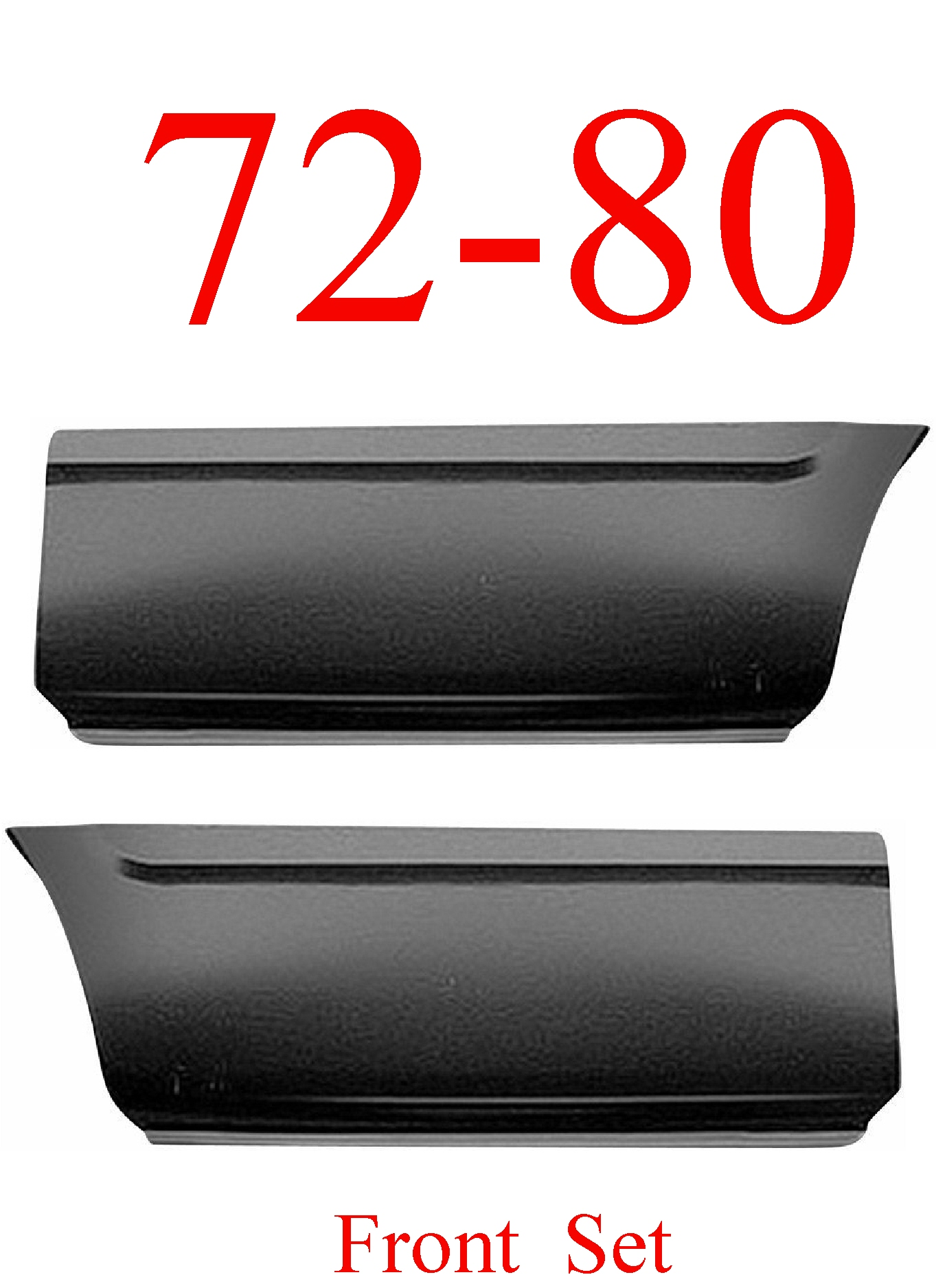 72-80 Dodge Front Lower Bed Panel Set 8'