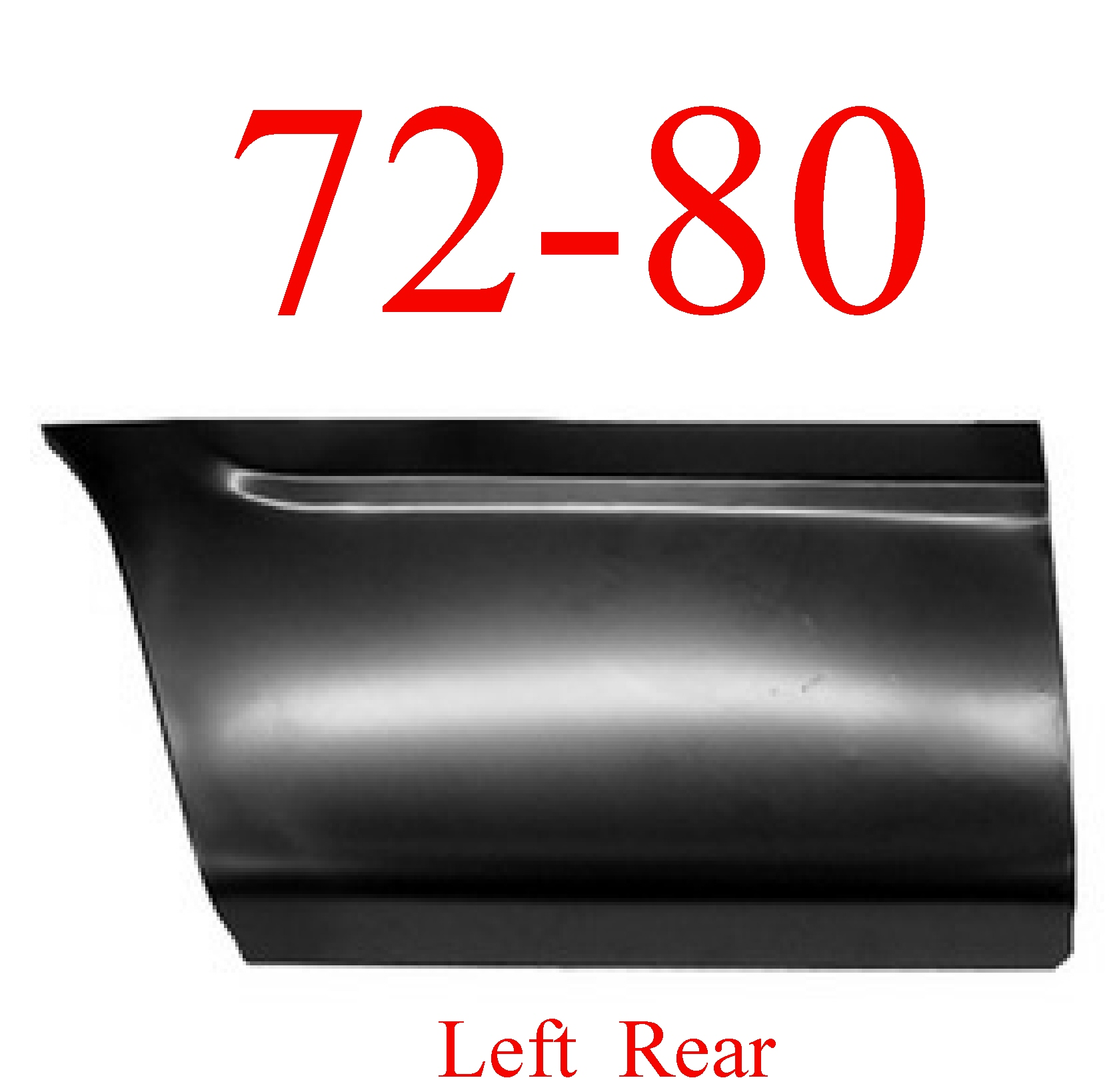 72-80 Dodge Left Rear Lower Bed Panel 8'