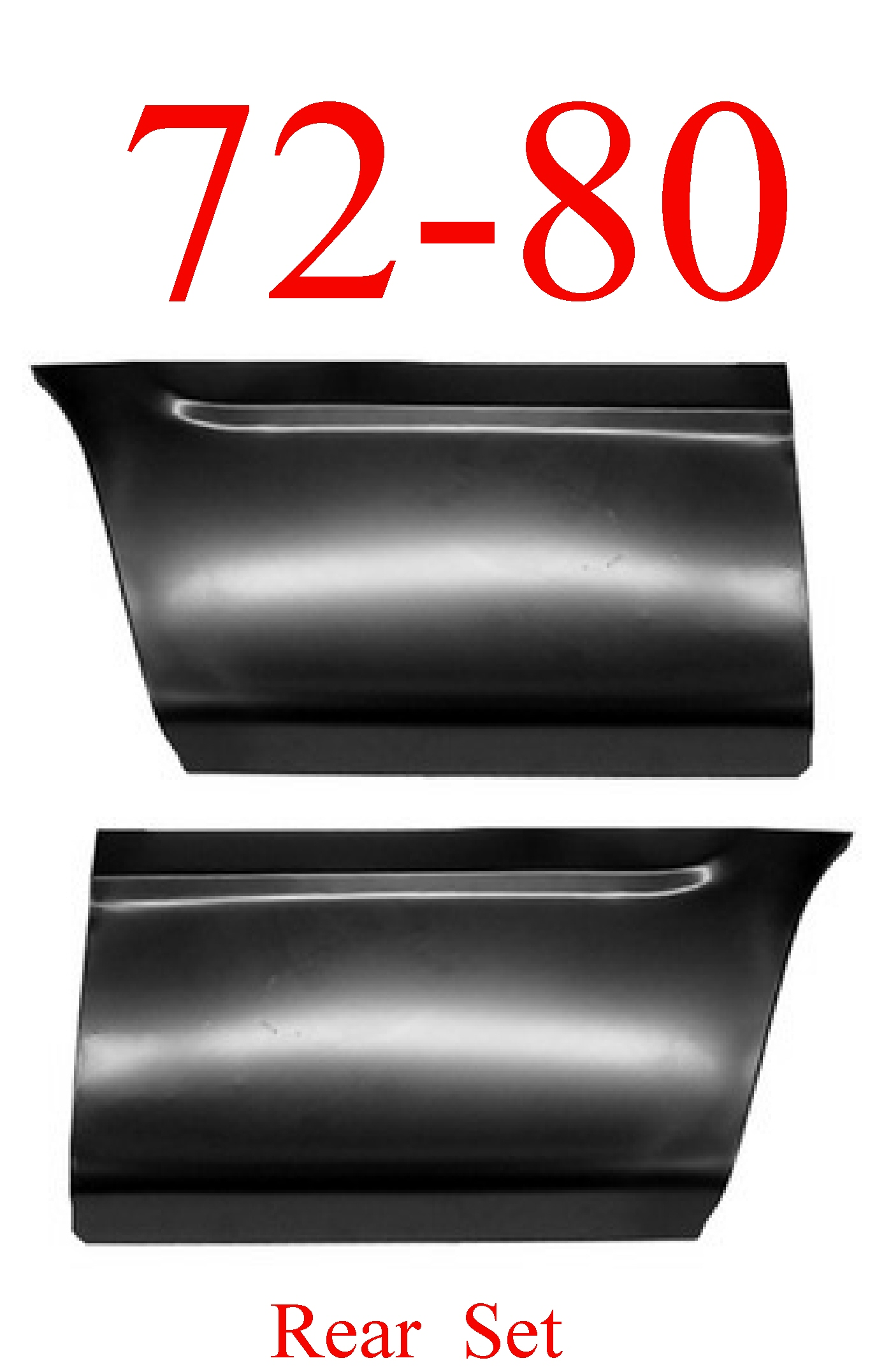 72-80 Dodge Rear Lower Bed Panel Set 8'