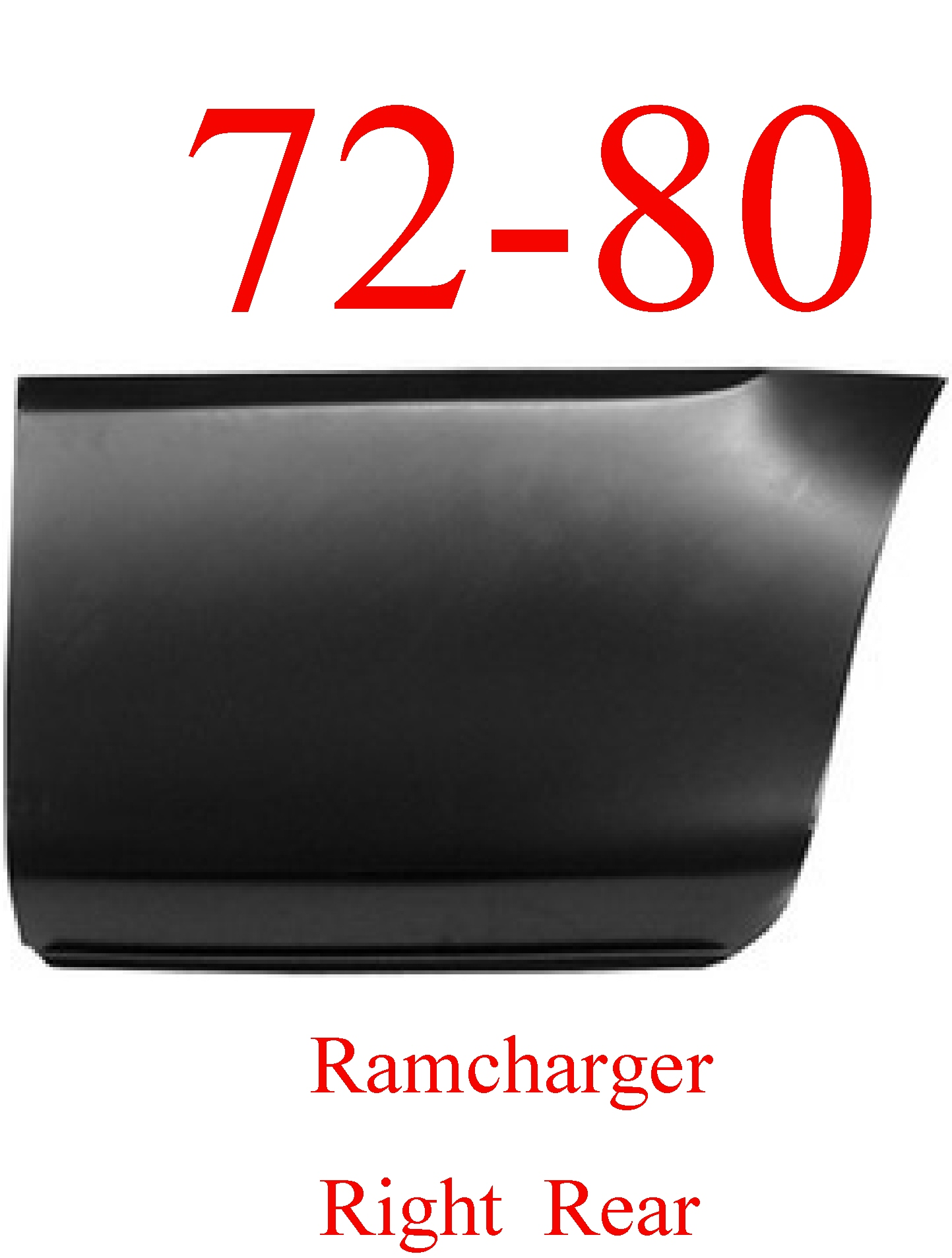 72-80 Dodge Ramcharger Right Rear Lower Bed Panel