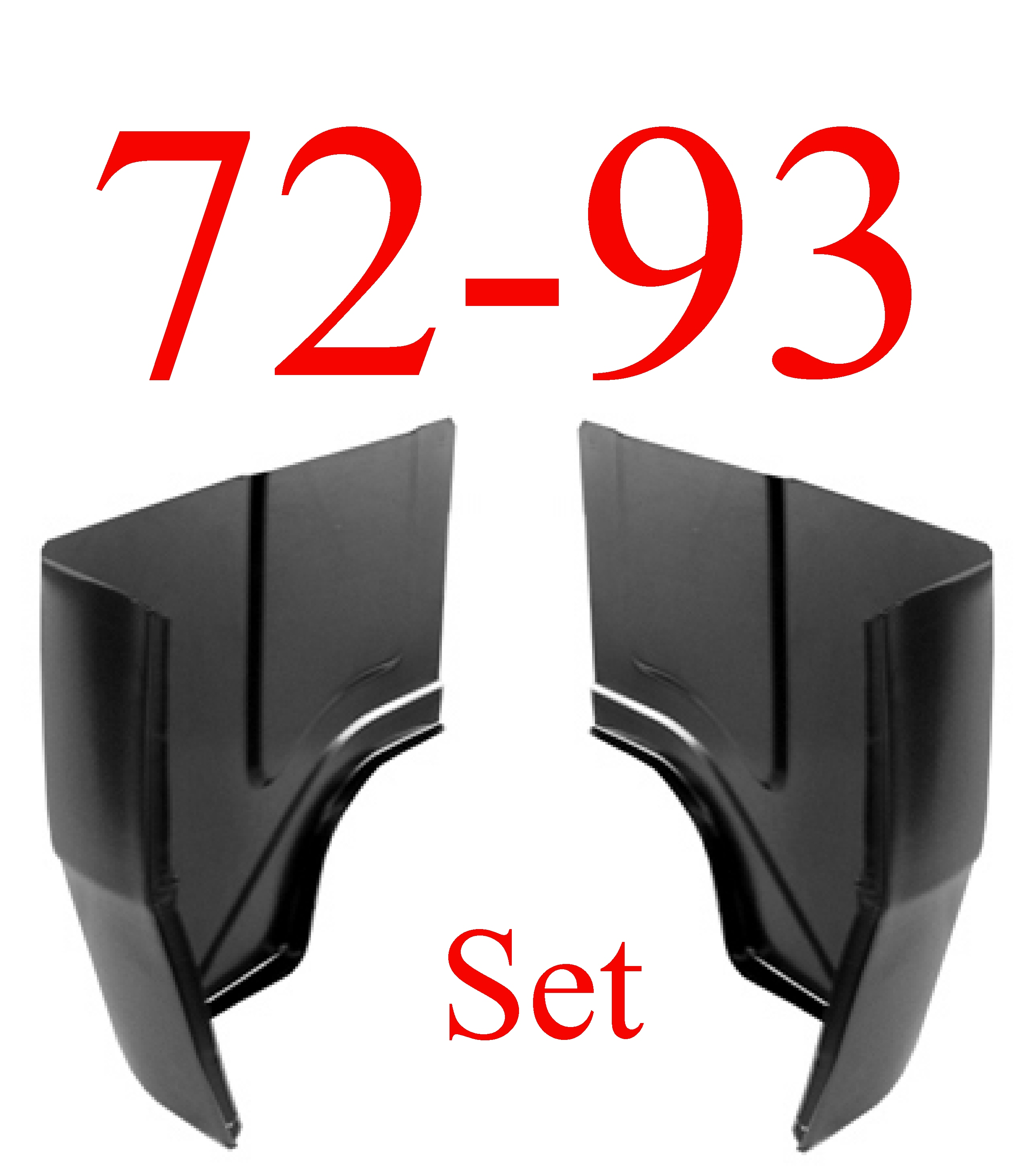 72-93 Dodge Ram Regular Cab Corner SET