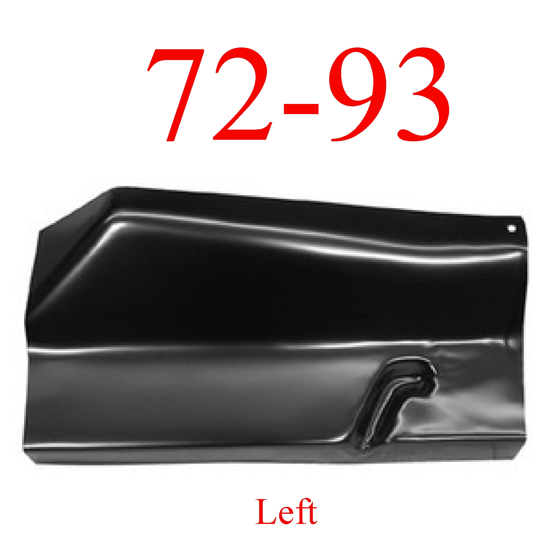 72-93 Dodge Left Outer Floor Panel