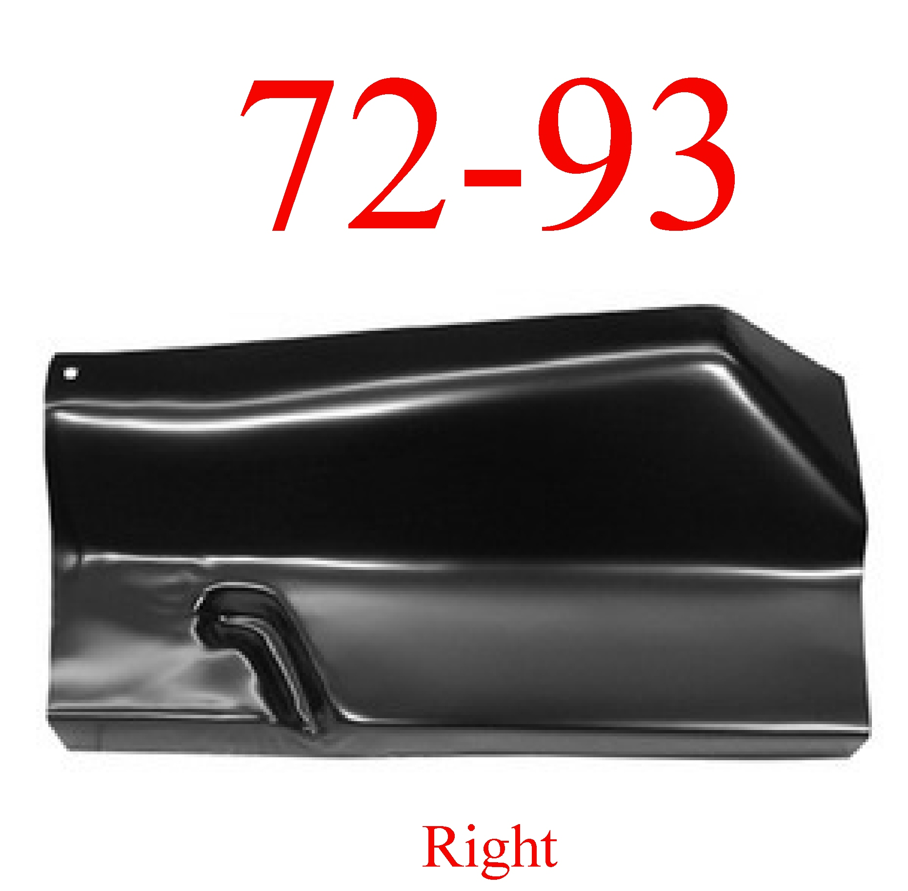 72-93 Dodge Right Outer Floor Panel
