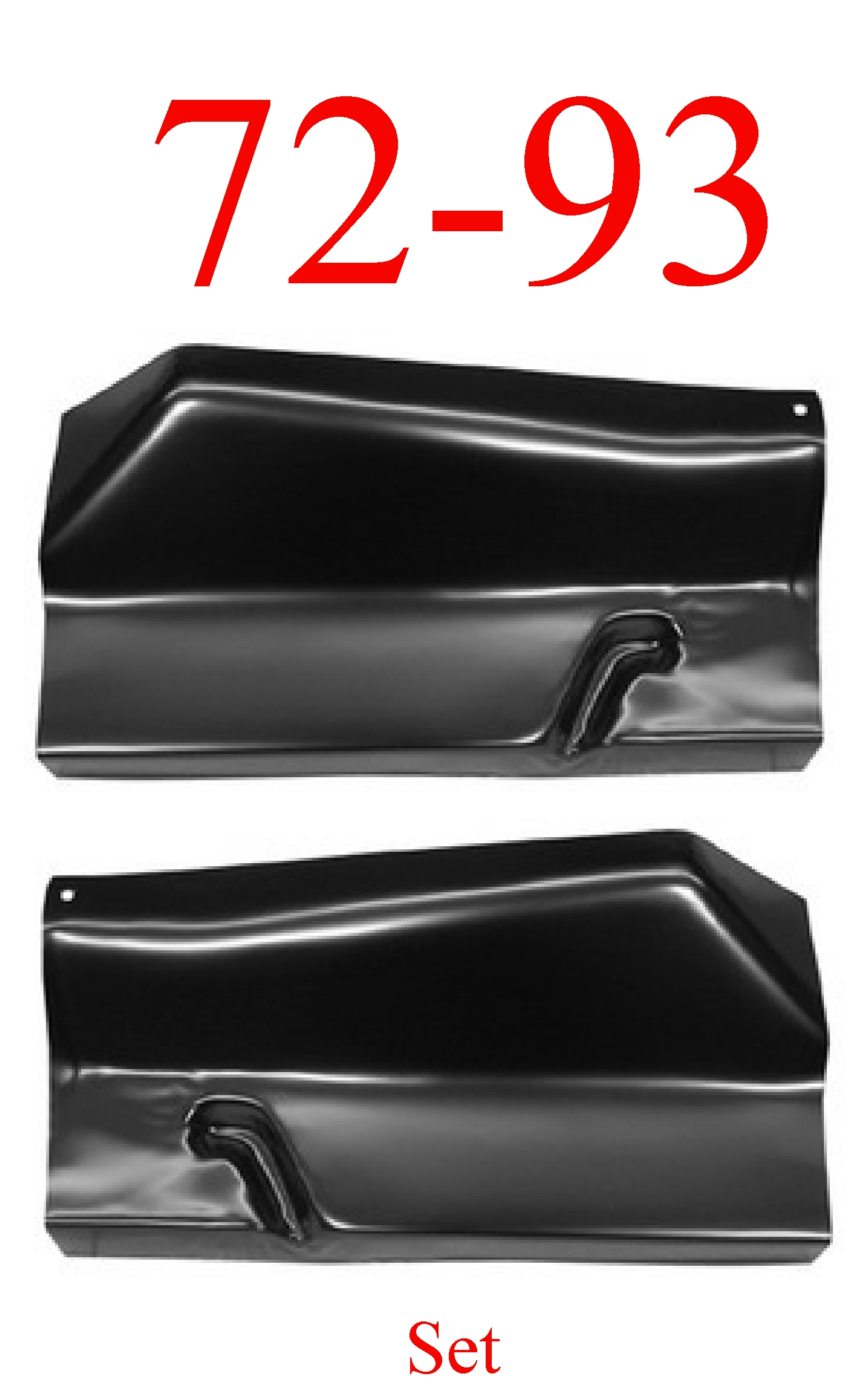 72-93 Dodge Outer Floor Panel Set