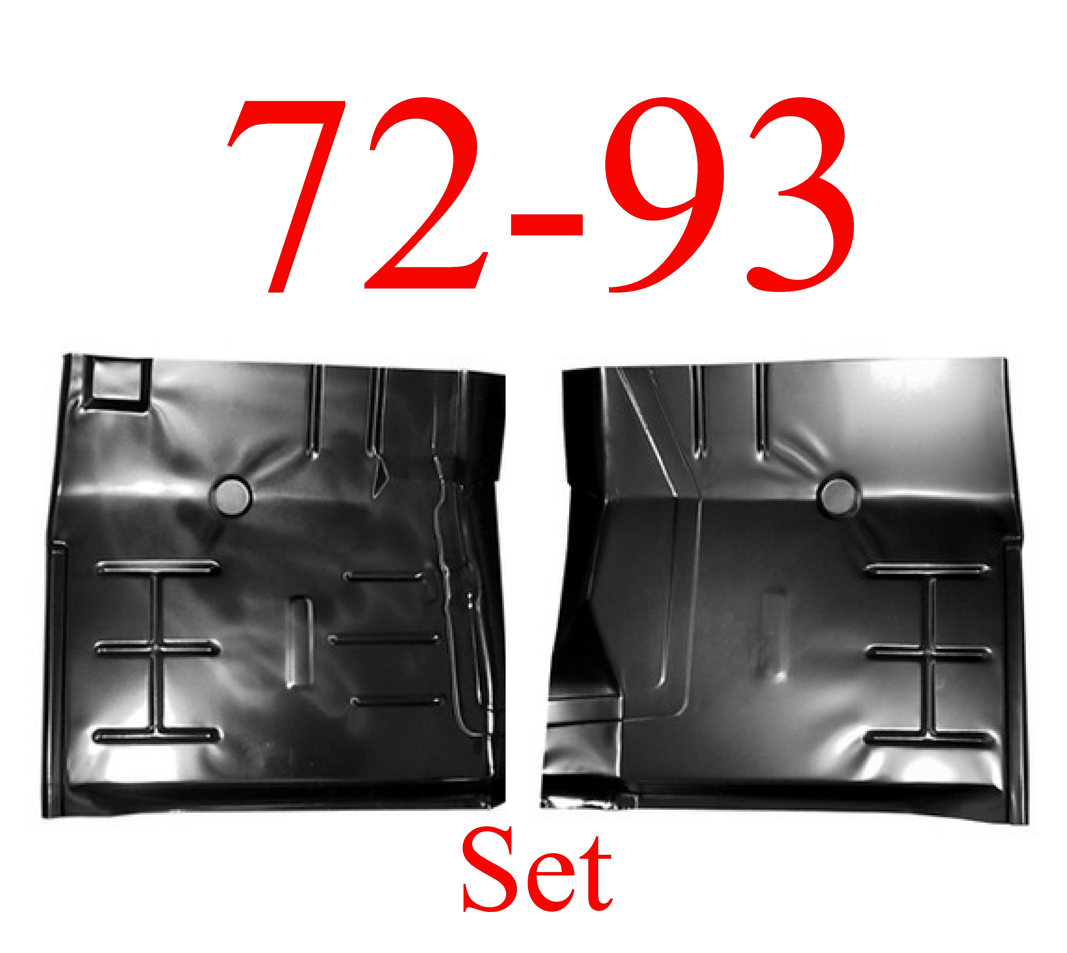 72-93 Dodge Ram Floor Panel Set