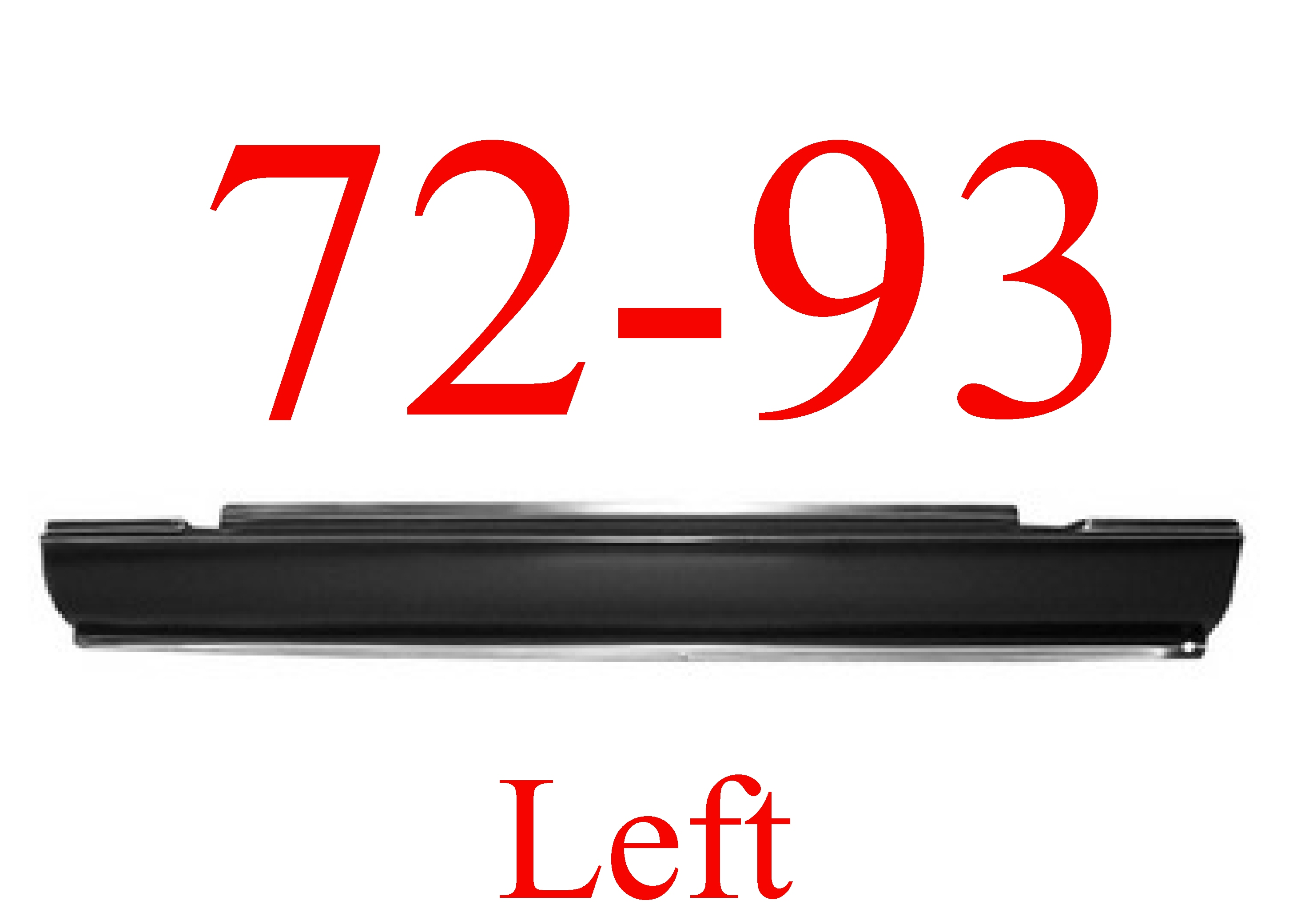 72-93 Dodge Ram LEFT Slip-On Rocker Panel