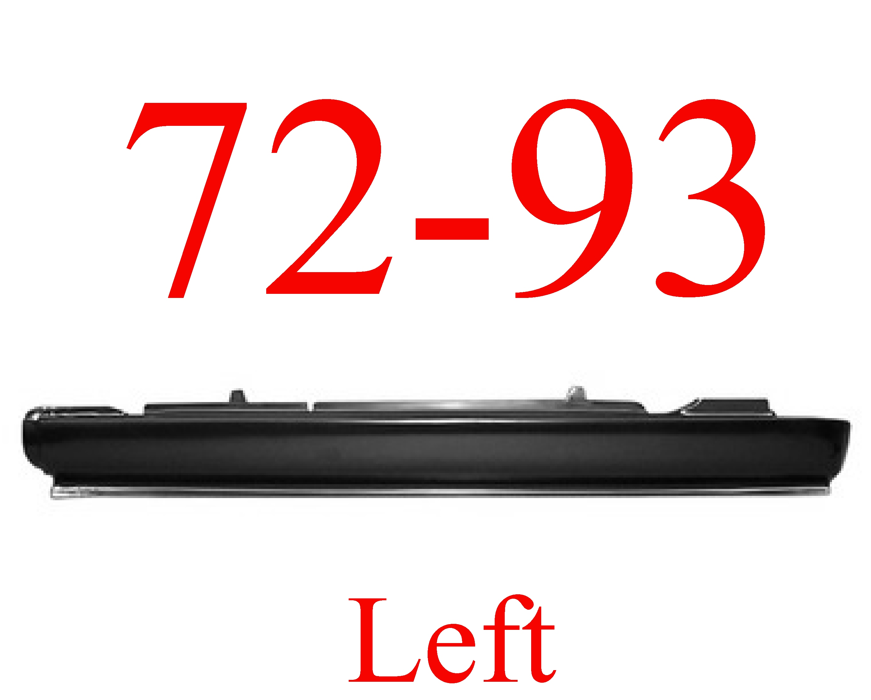 72-93 Dodge Ram LEFT Extended Rocker Panel