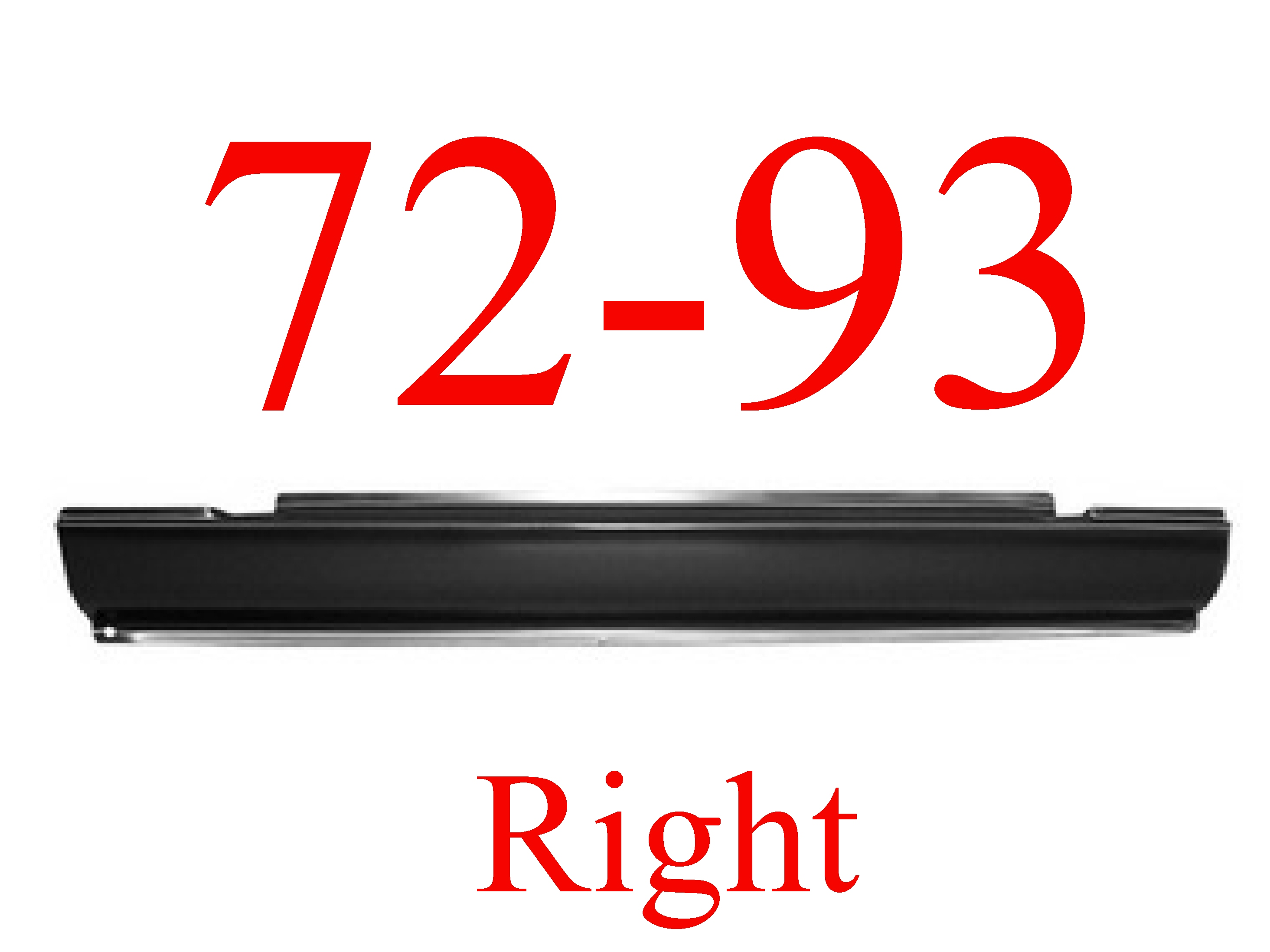 72-93 Dodge Ram RIGHT Slip-On Rocker Panel