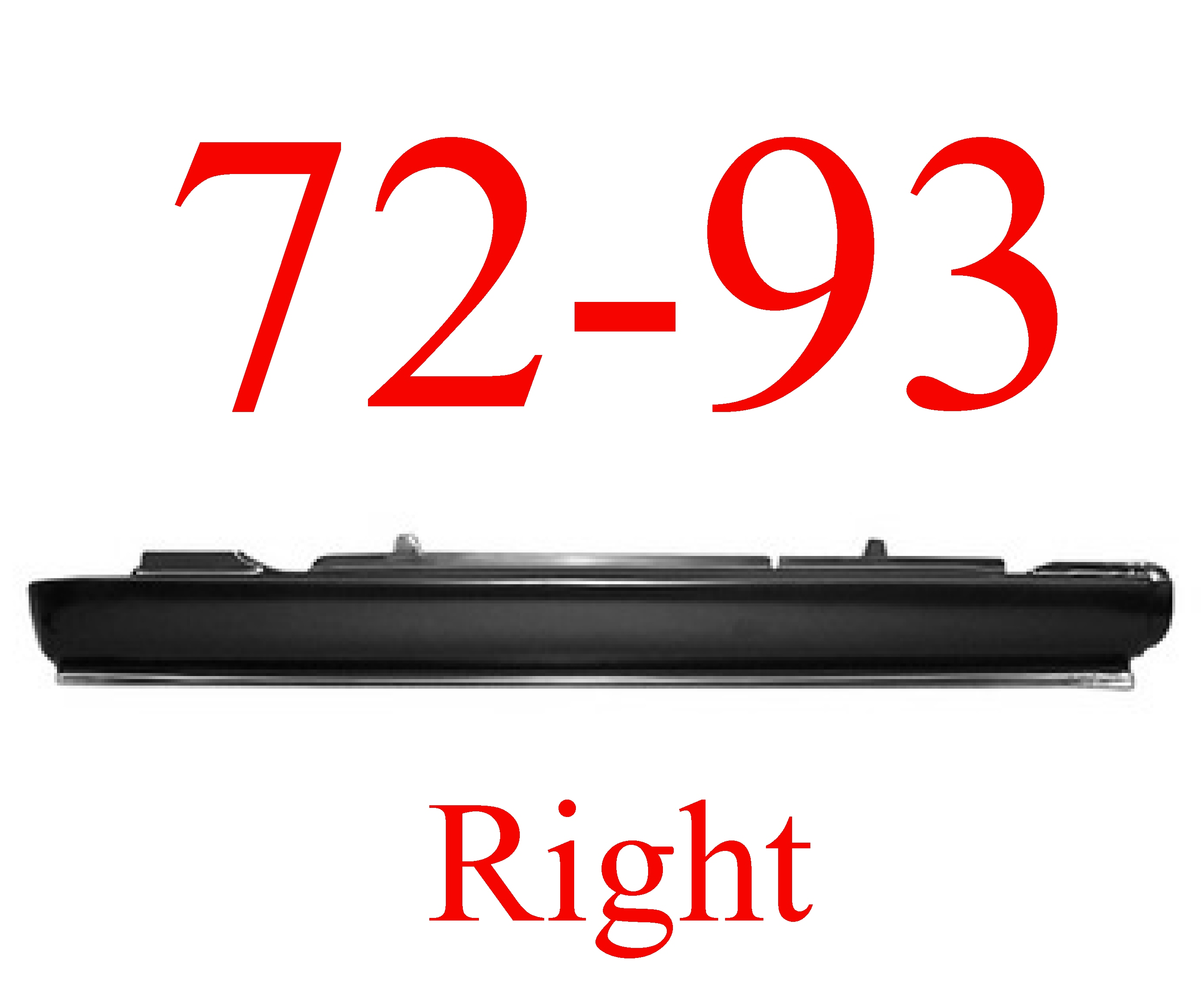 72-93 Dodge Ram RIGHT Extended Rocker Panel