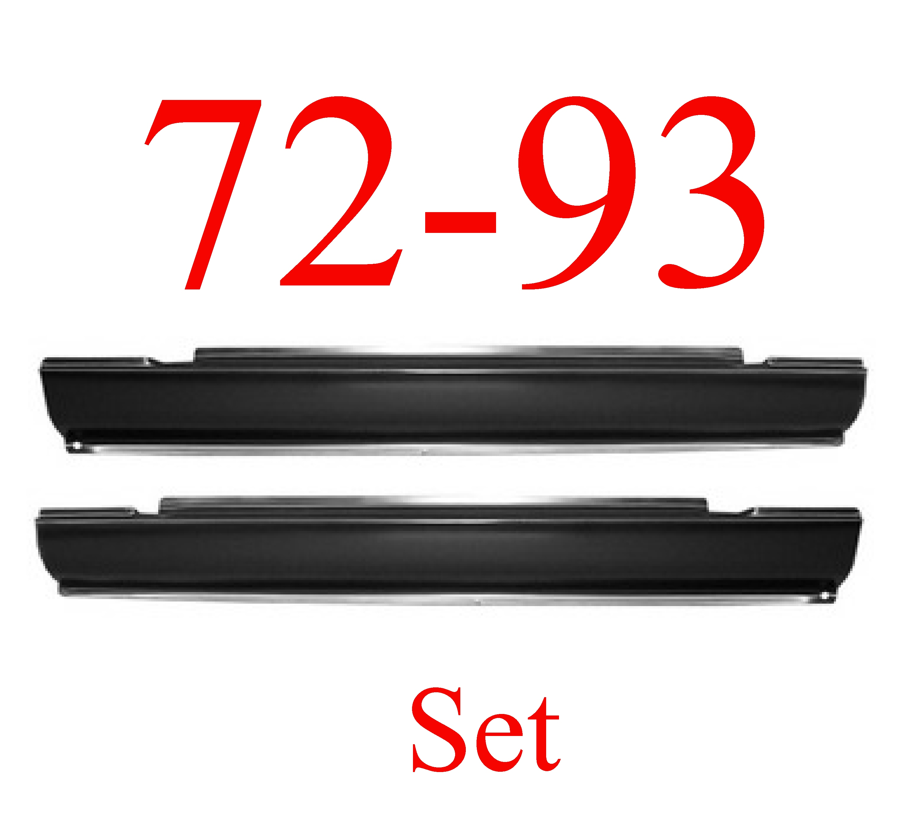 72-93 Dodge Ram Slip-On Rocker Panel Set