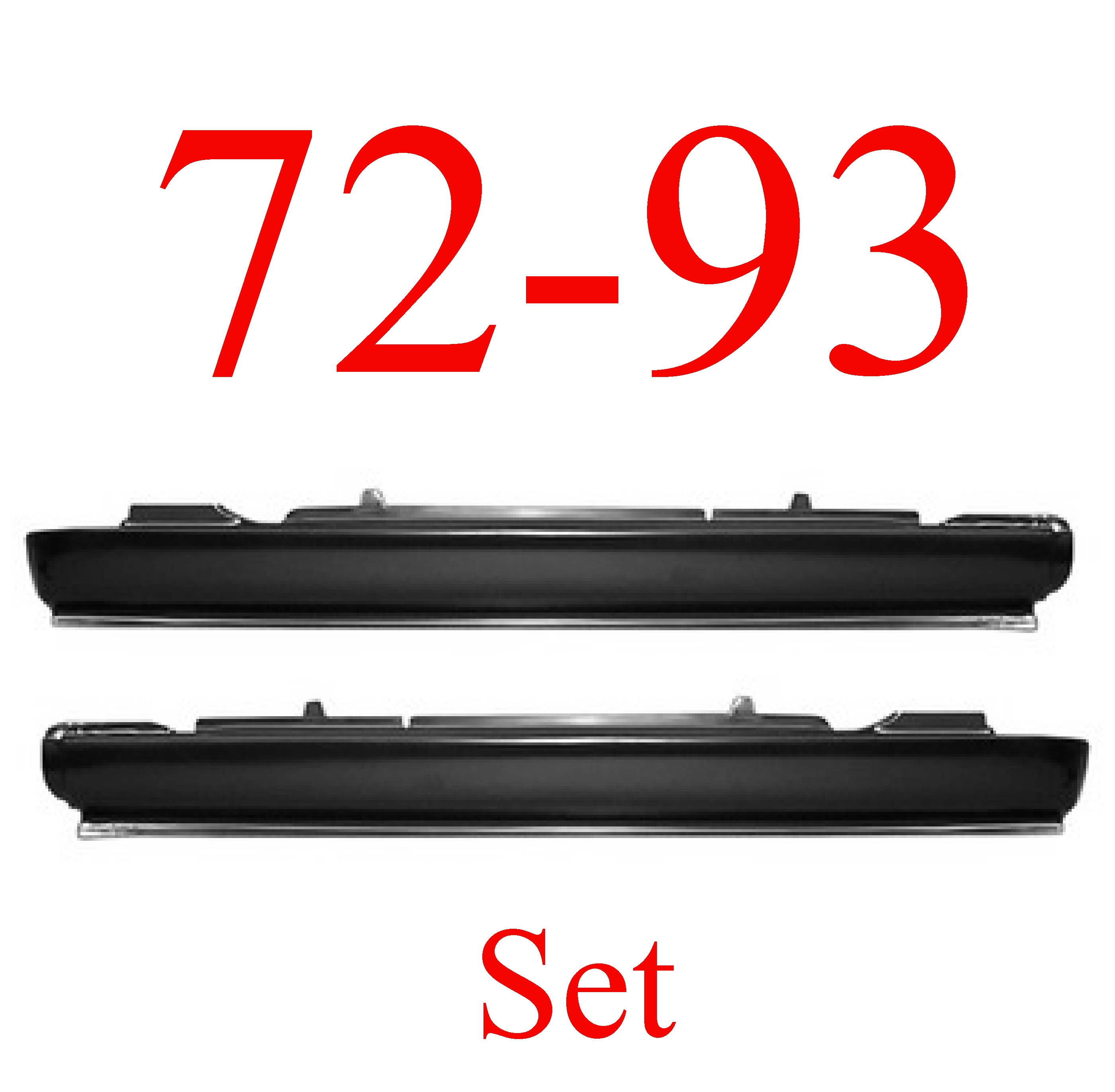 72-93 Dodge Ram Extended Rocker Panel Set