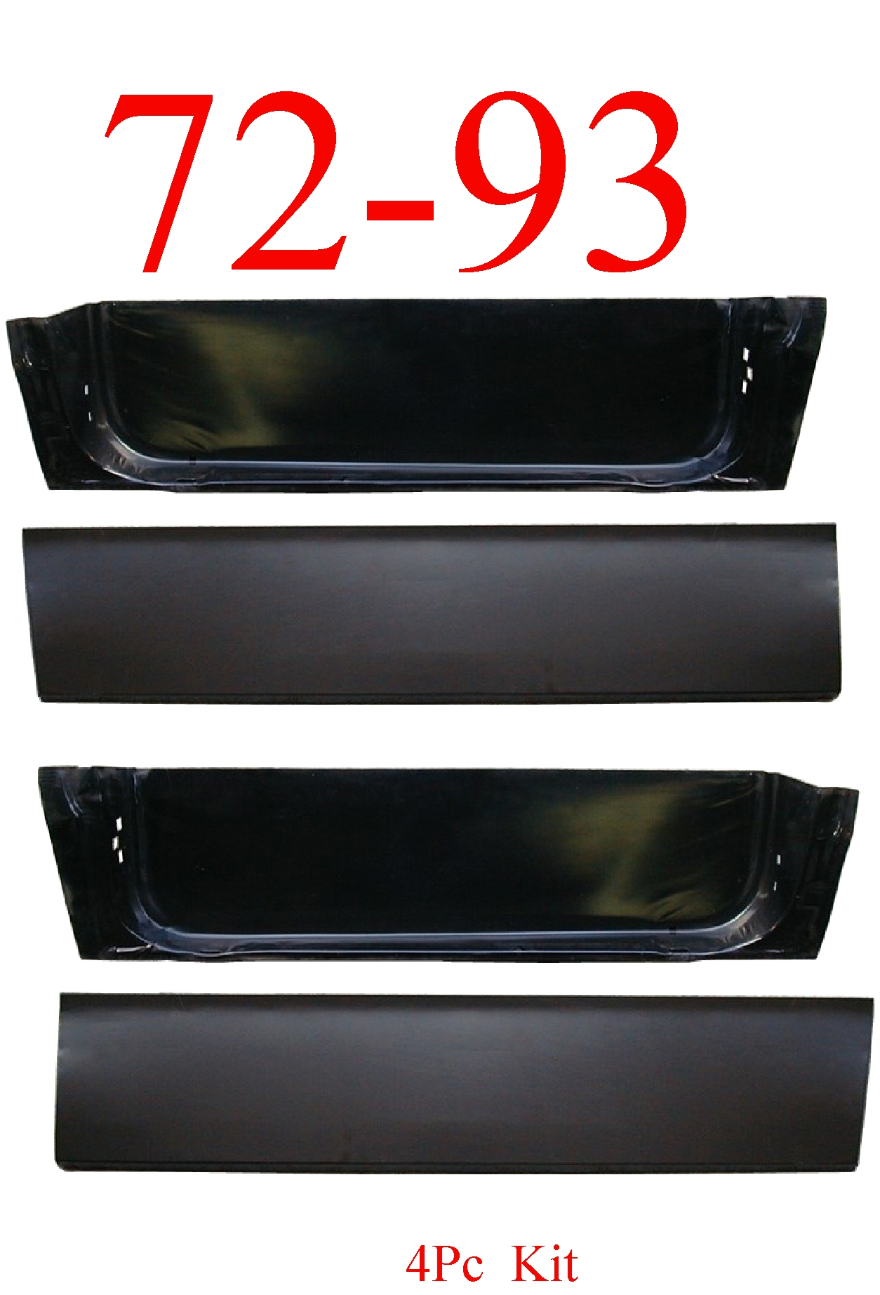 72-93 Dodge 4Pc Door Skin & Inner Bottom Set