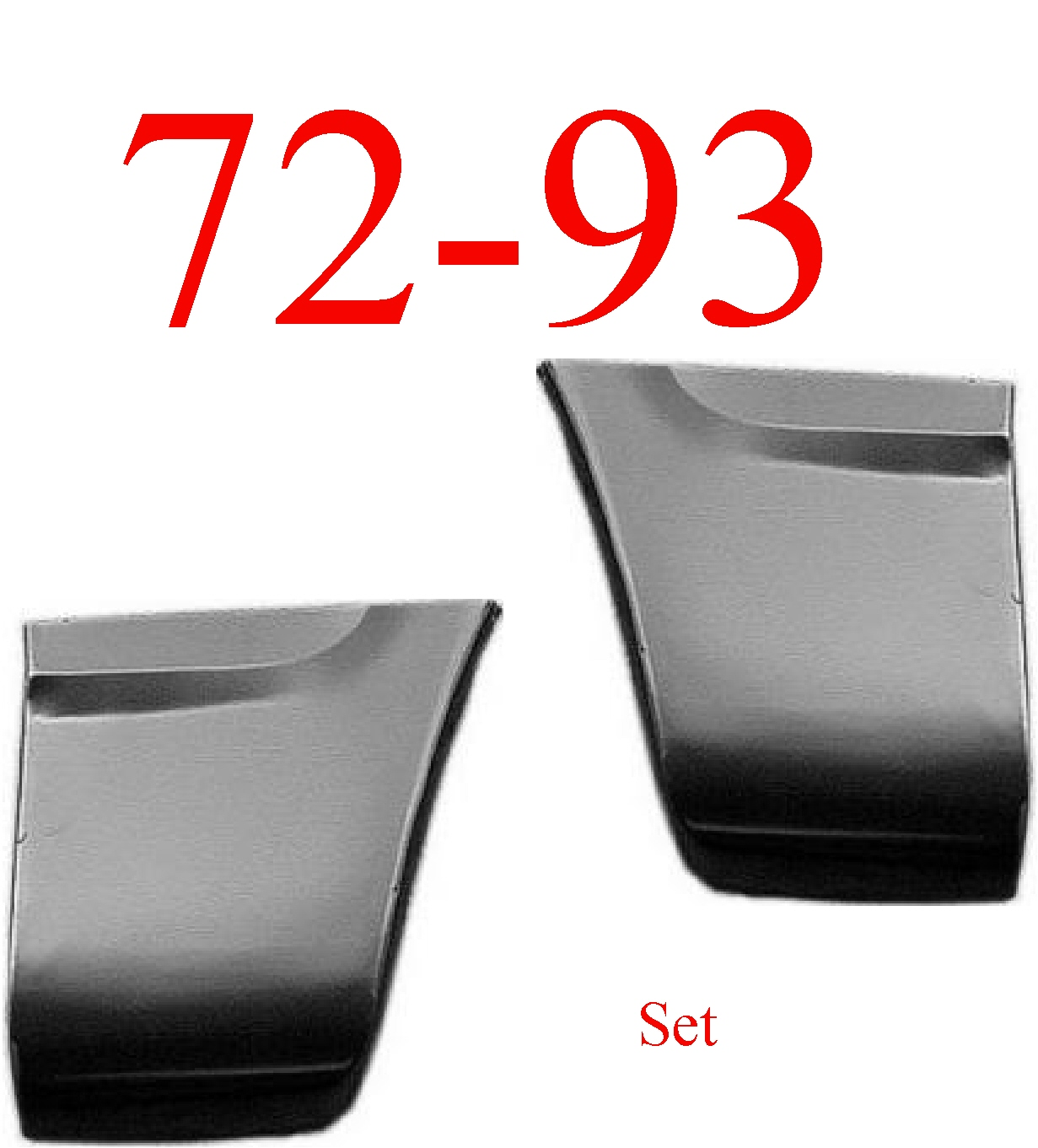 72-93 Dodge Rear Fender Bottom Set