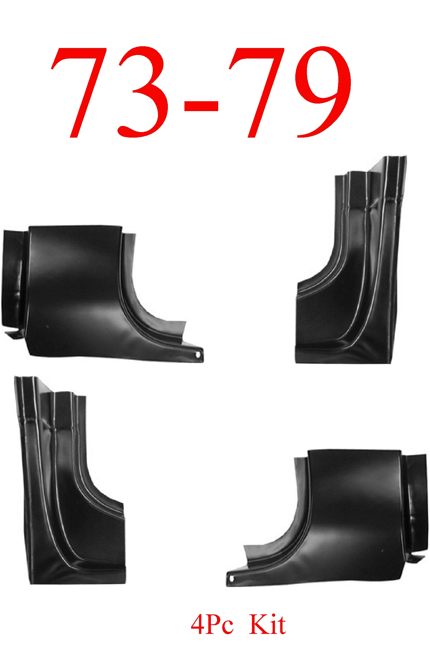73-79 Ford 4Pc Front & Rear Door Post Kit