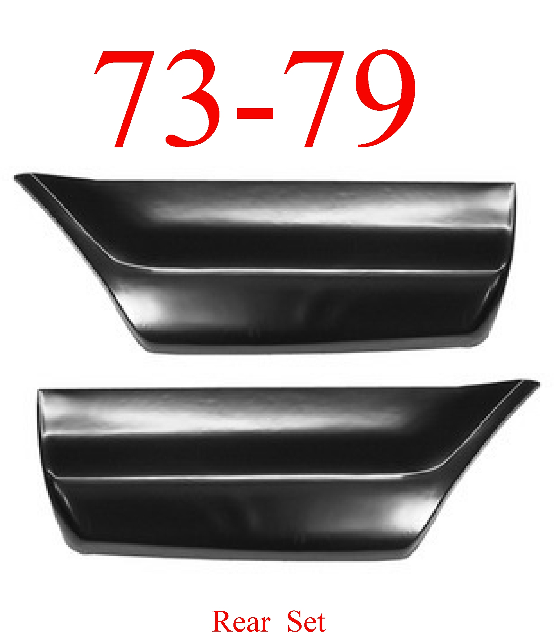 73-79 Ford Rear Lower Bed Patch Set