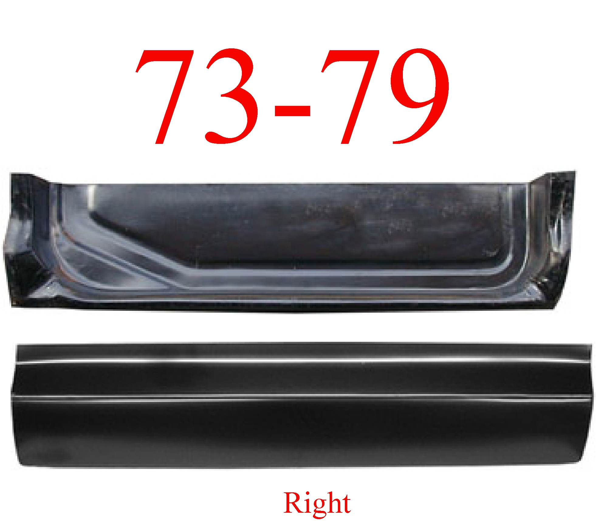 73-79 Ford 2Pc Right Door Bottom & Inner