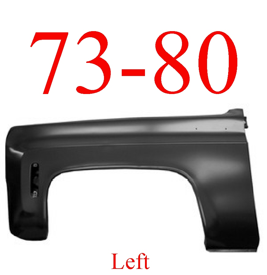 70-80 Chevy Left Front Fender Assembly