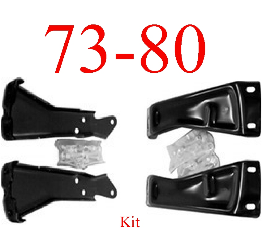 73-80 Chevy Rear Bumper Bracket Kit With Bolts