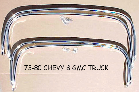 73-80 Chevy & GMC 4Pc Chrome Wheel Trim Kit