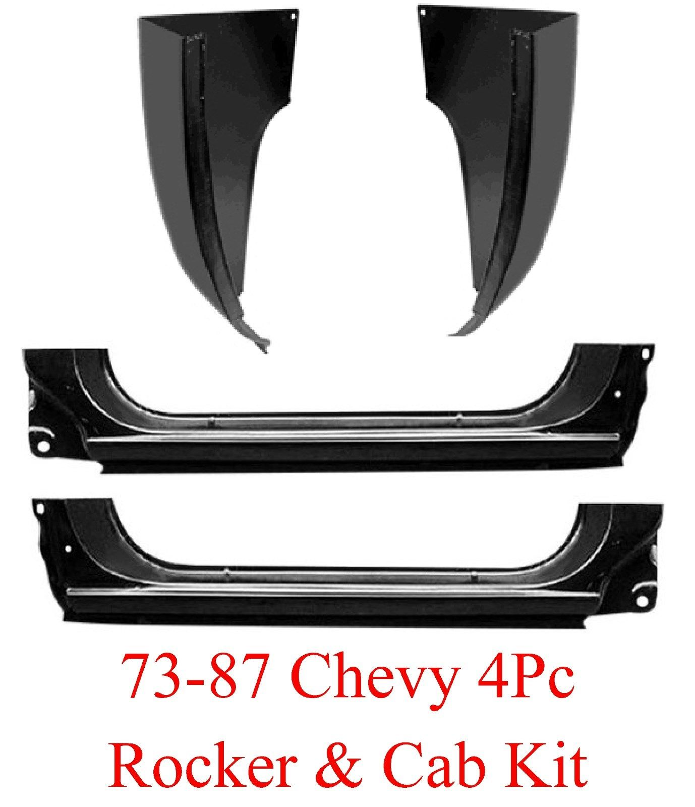 73 87 4Pc Extended Rocker Panel & Cab Corner Kit