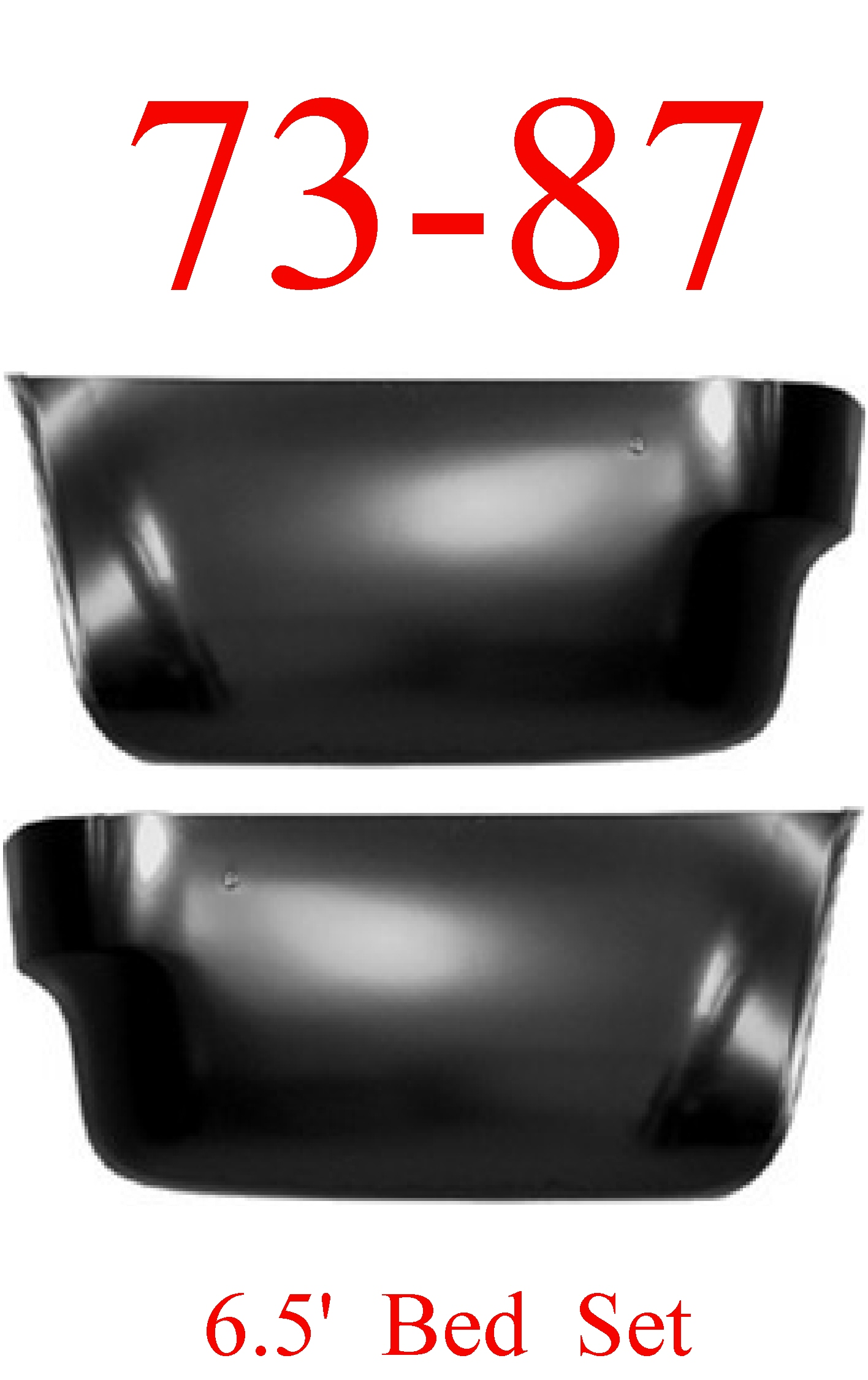 73-87 Chevy 6.5' Rear Lower Bed Side Panel Set