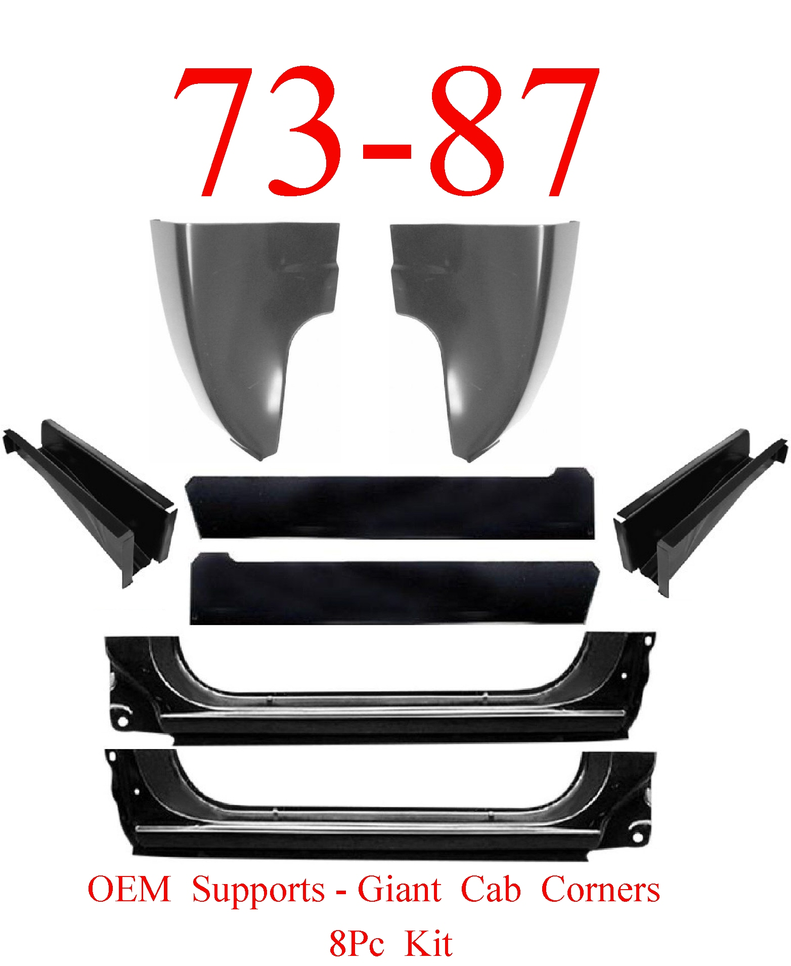 73-87 OEM Chevy 8Pc Cab Repair Kit