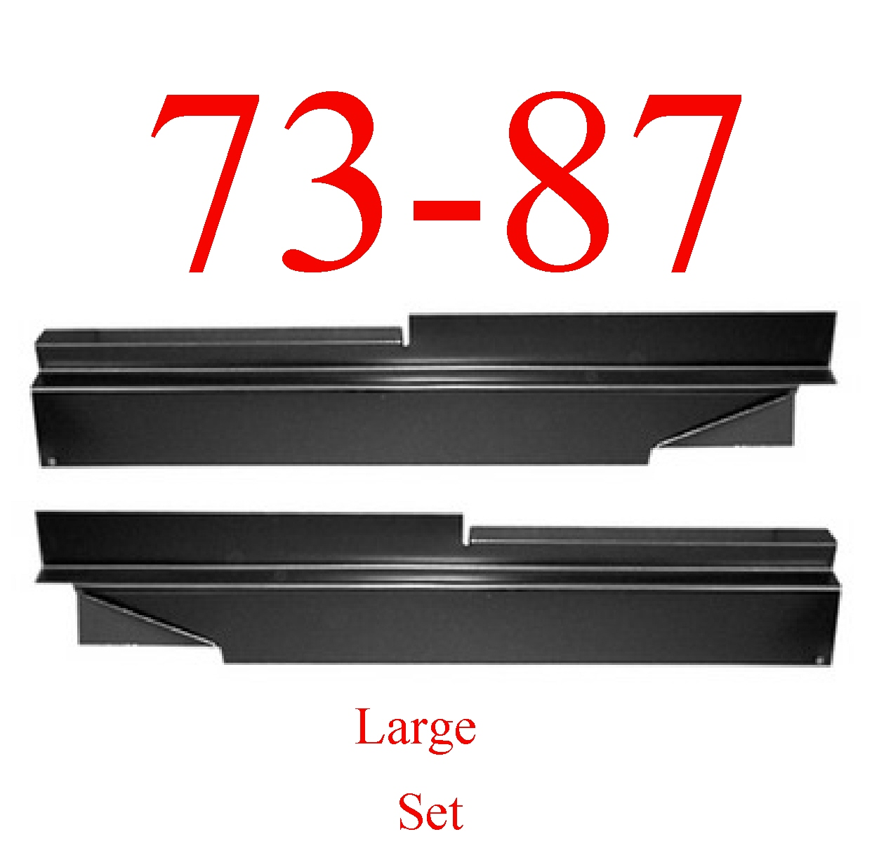 73-87 Chevy Large Inner Rocker Panel Set