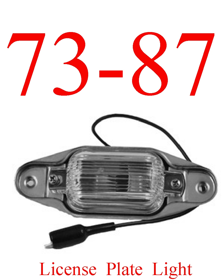 73-87 Chevy License Plate Light