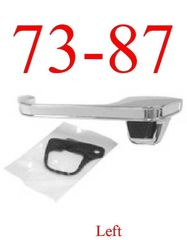 73-87 Chevy Left Front Outer Door Handle Chrome