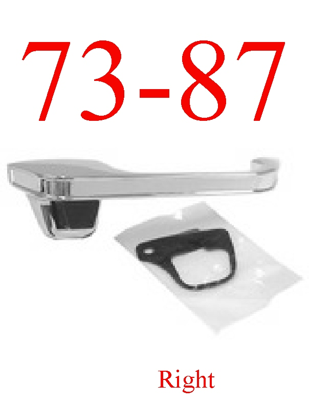 73-87 Chevy Right Front Outer Door Handle Chrome