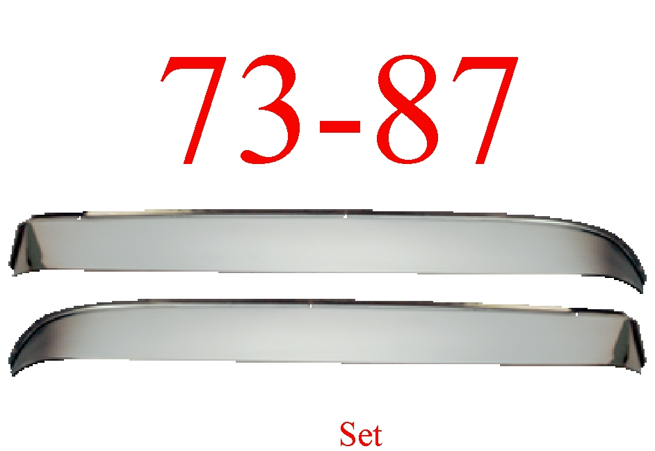73-87 Chevy Stainless Vent Shade Set