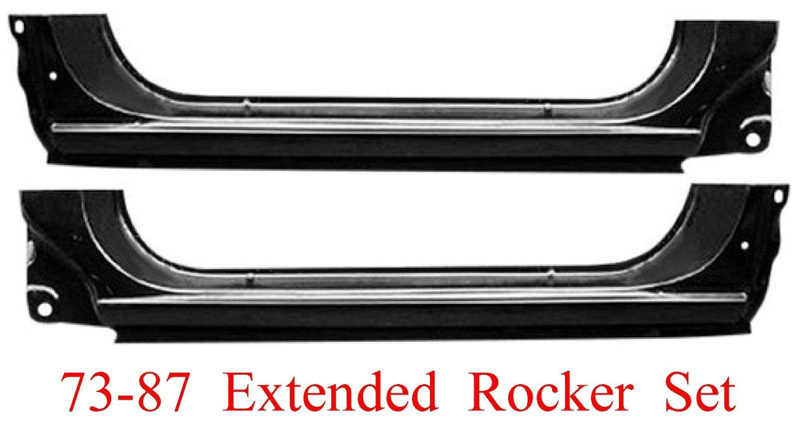 73-87 Chevy & GMC Extended Rocker Panel Set