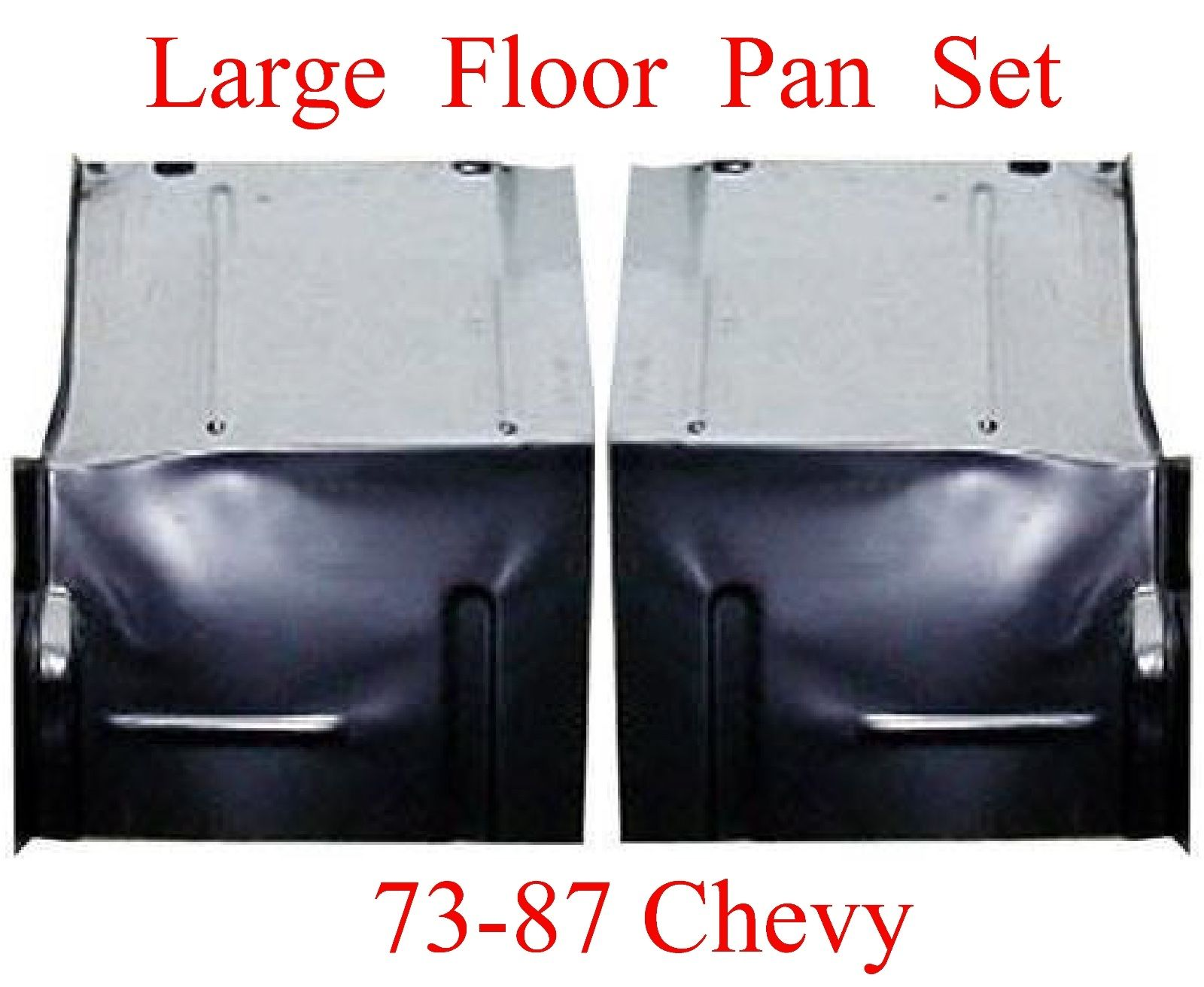 73 87 LARGE Floor Pan Set W Backing Plate
