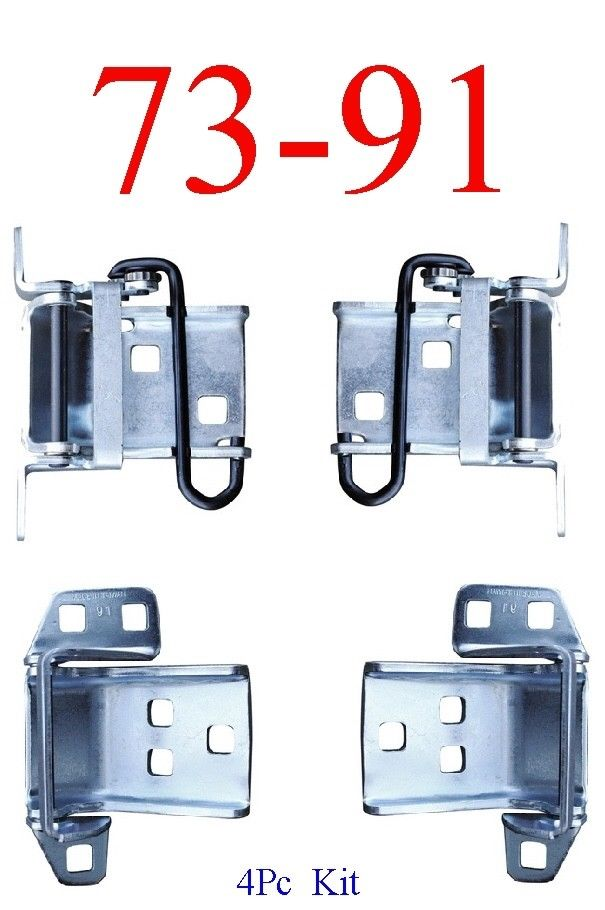 73-87 Chevy 4Pc Upper & Lower Door Hinge Assembly Kit