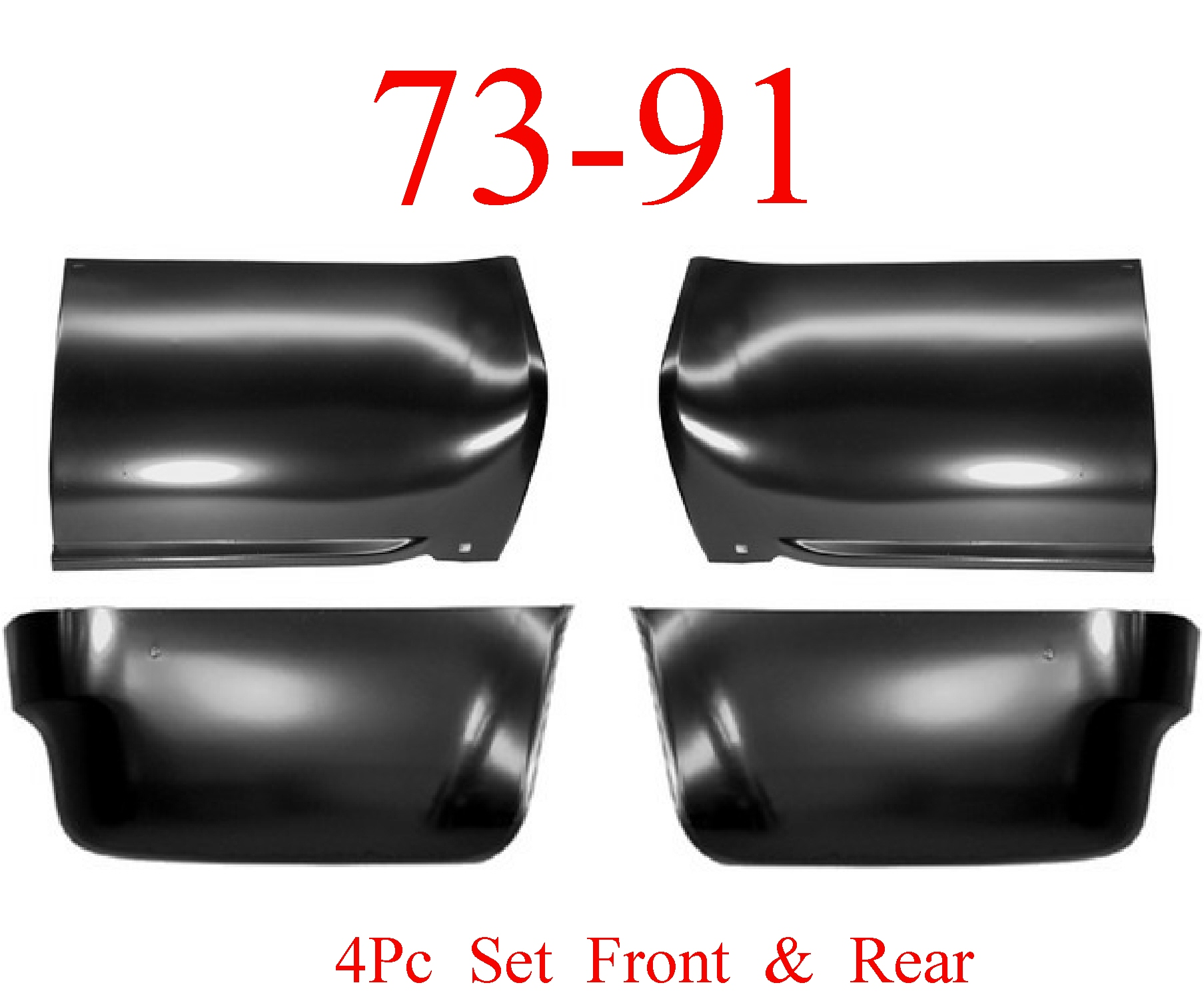 73-91 Chevy Blazer 4Pc Front Lower & Rear Lower Bed Panels Kit