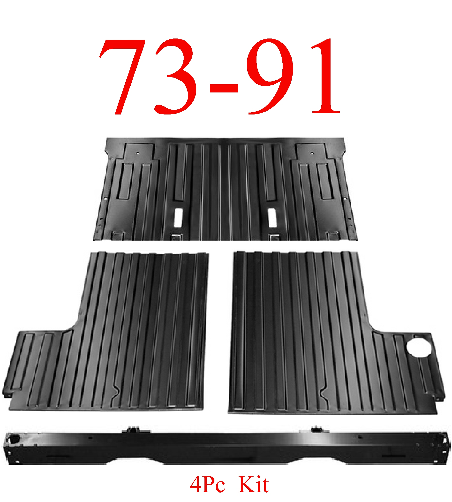 73 91 Chevy Blazer 4pc Rear Cargo Floor Tail Pan Section Mrtaillight Com Online Store