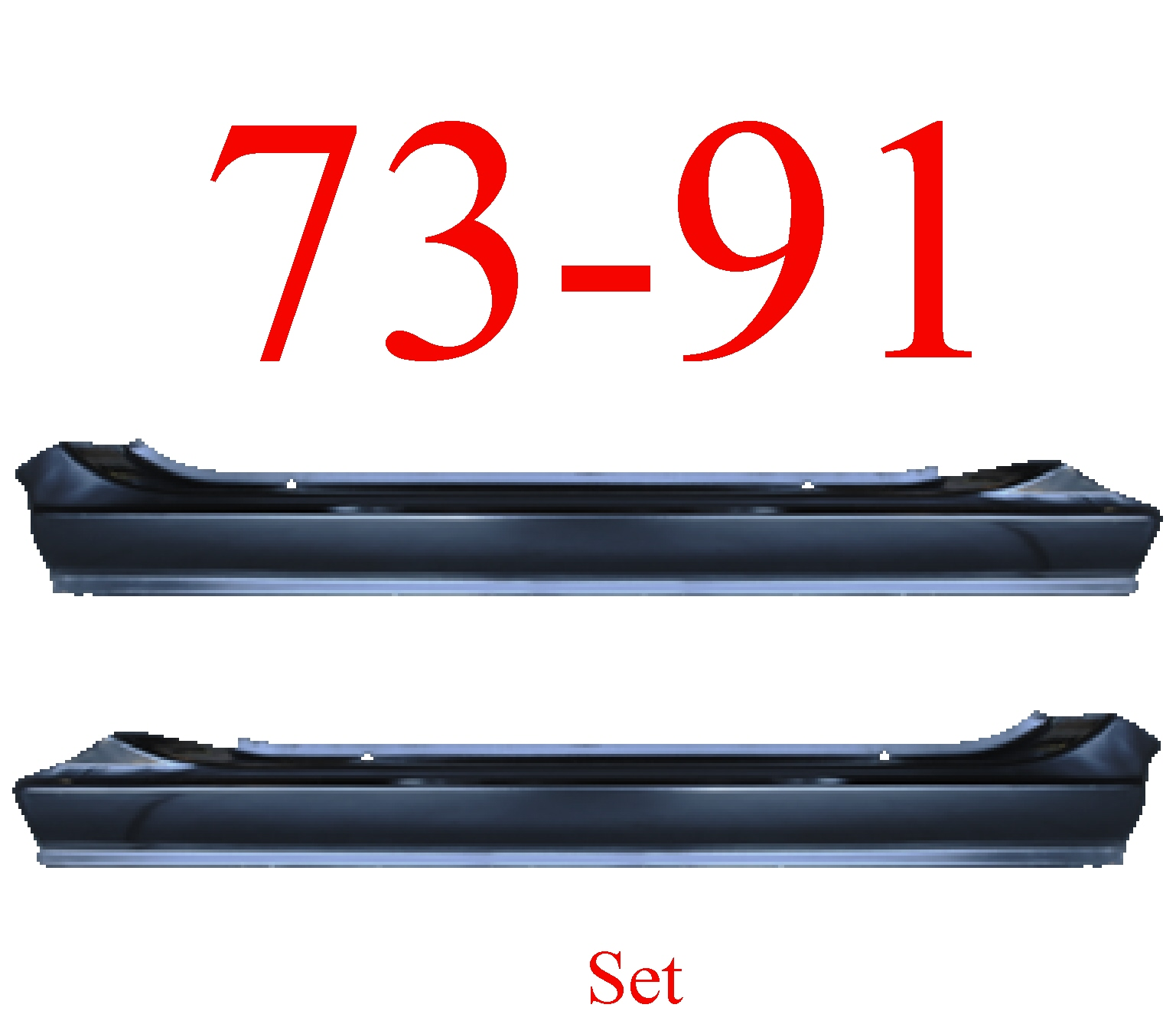 73-91 Chevy Blazer Slip-on Rocker Set