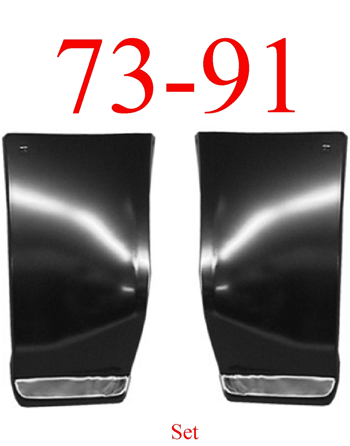 73-91 Chevy Suburban Front Lower Quarter Panel Set