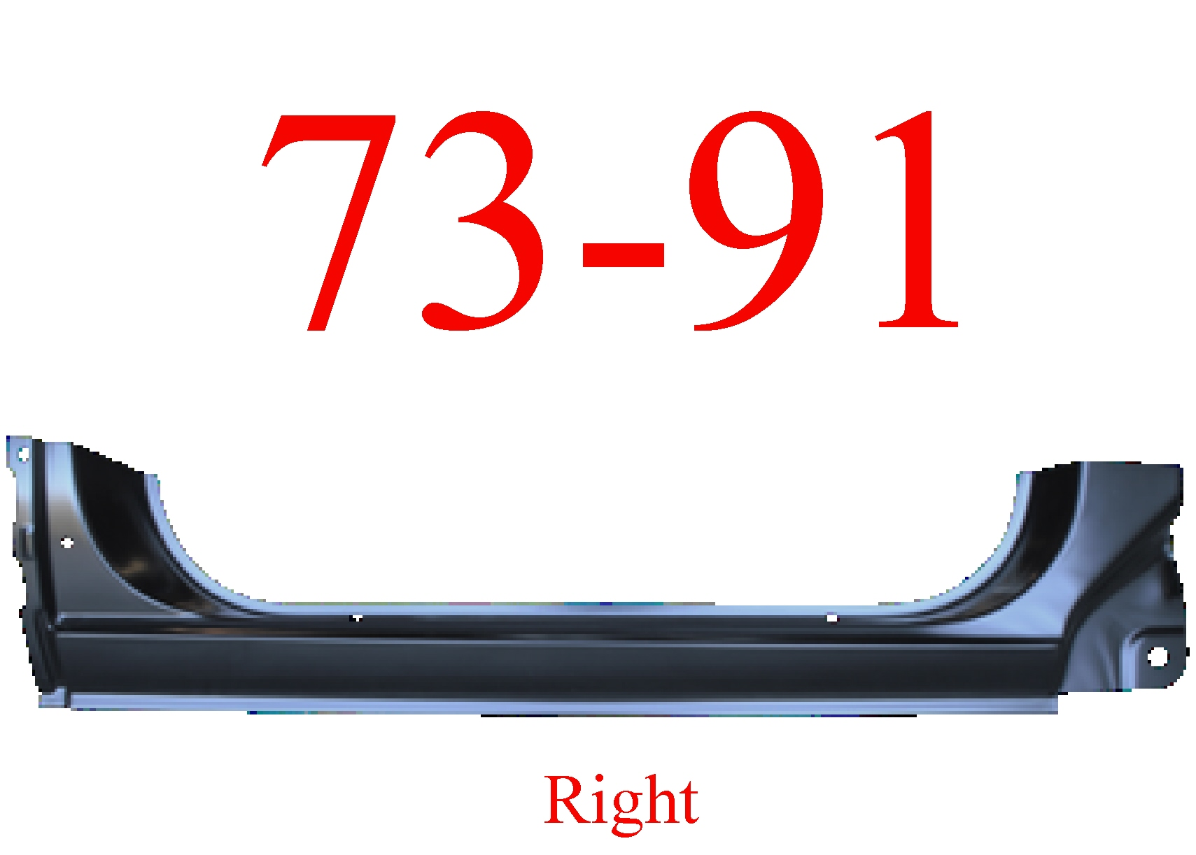 73-91 Chevy Blazer Right Extended Rocker Panel