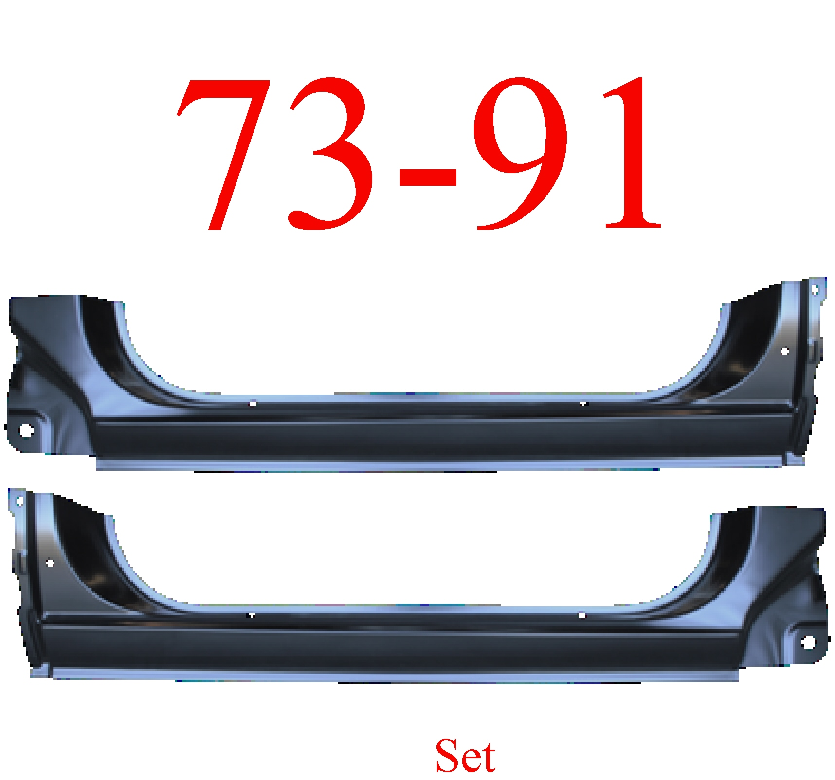 73-91 Chevy Blazer Extended Rocker Set