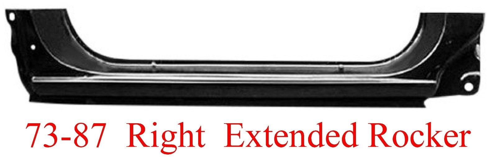 73-87-91 Chevy & GMC Right Extended Rocker Panel