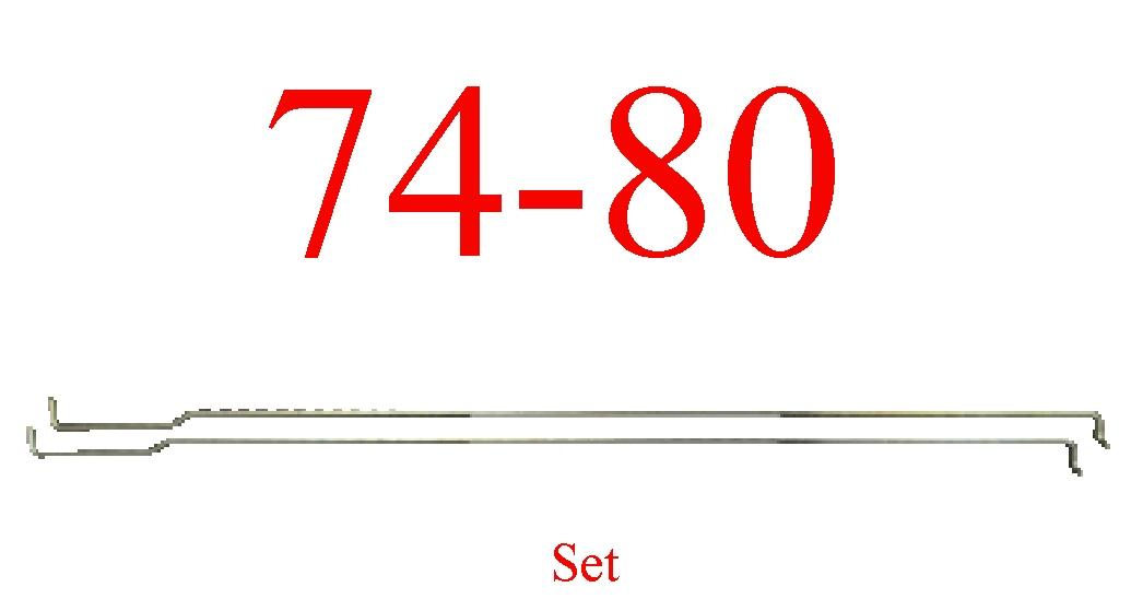 74-80 Chevy Tail Gate Rod Set