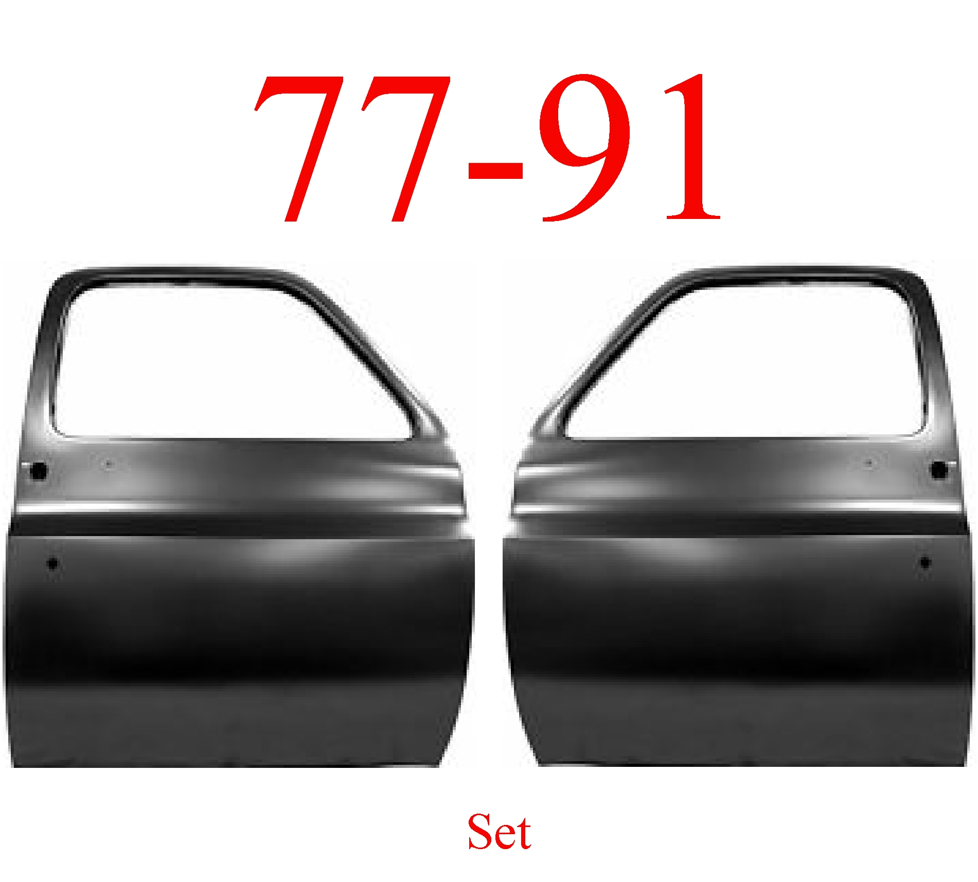 77-91 Chevy GMC Truck Door Set Shell