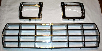 78-79 Ford Truck & Bronco 3Pc Chrome Kit