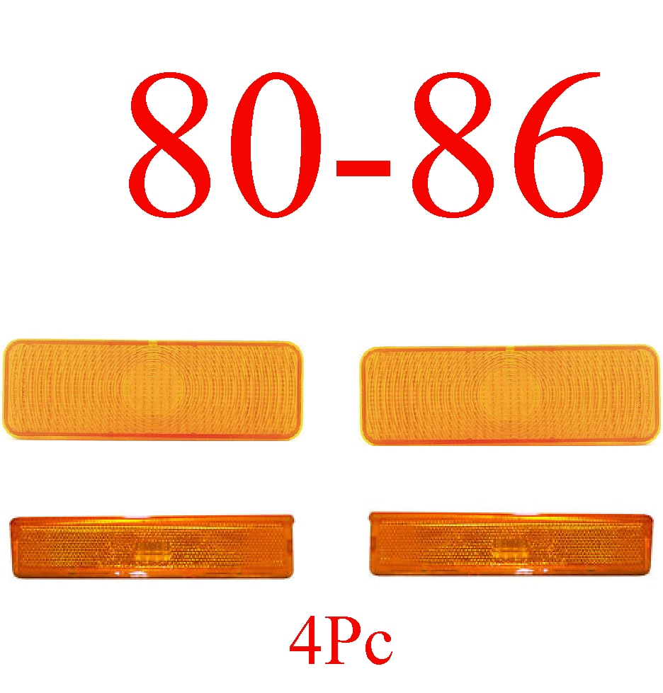 80-86 Truck & Bronco 4Pc Front Amber Light Kit