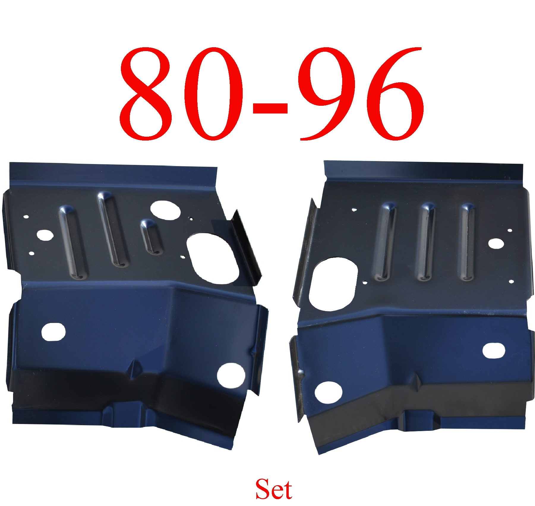 80-96 Ford Cab Mount Floor Support Set