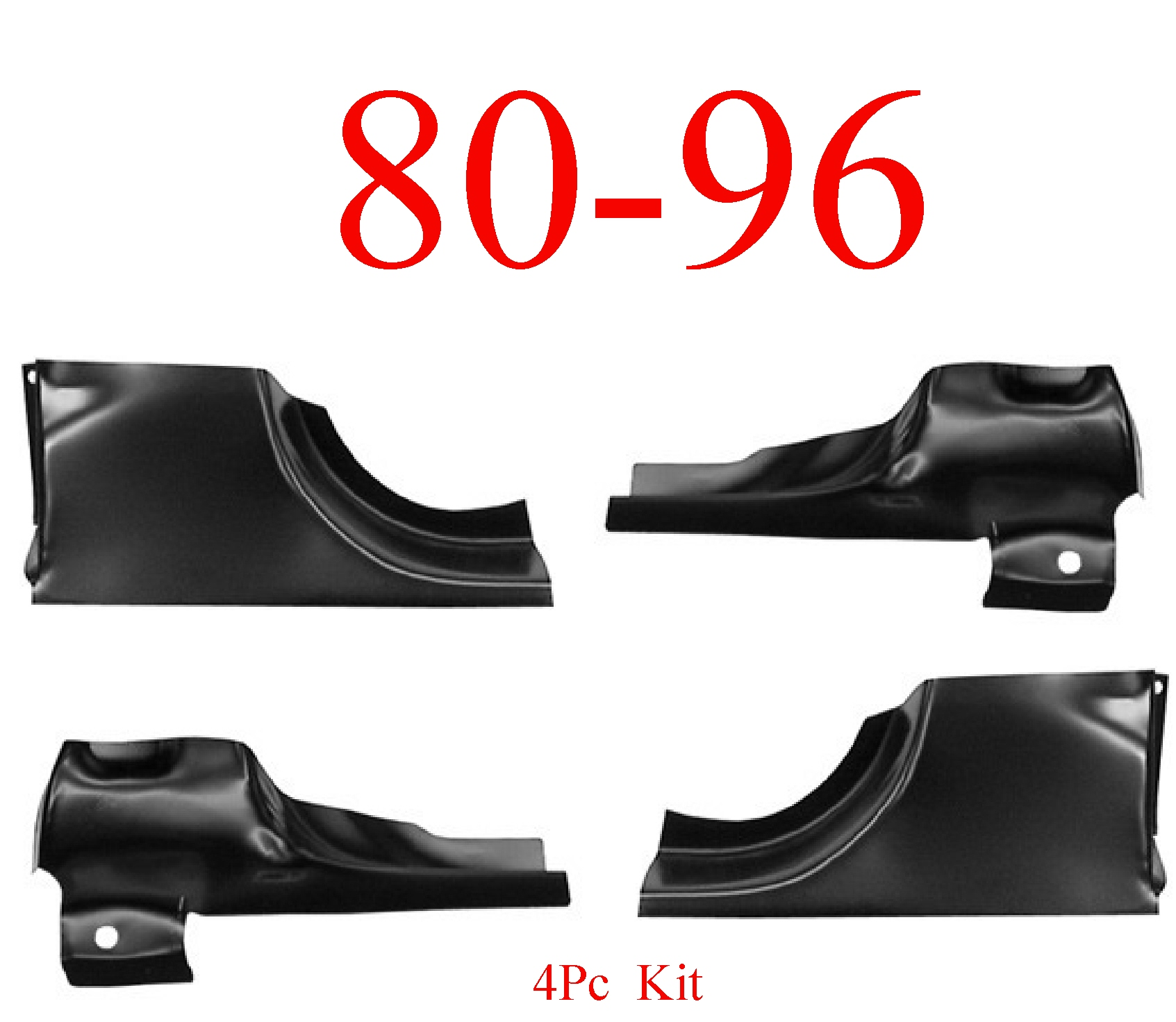 80-96 Ford 4Pc Front & Rear Door Post Kit