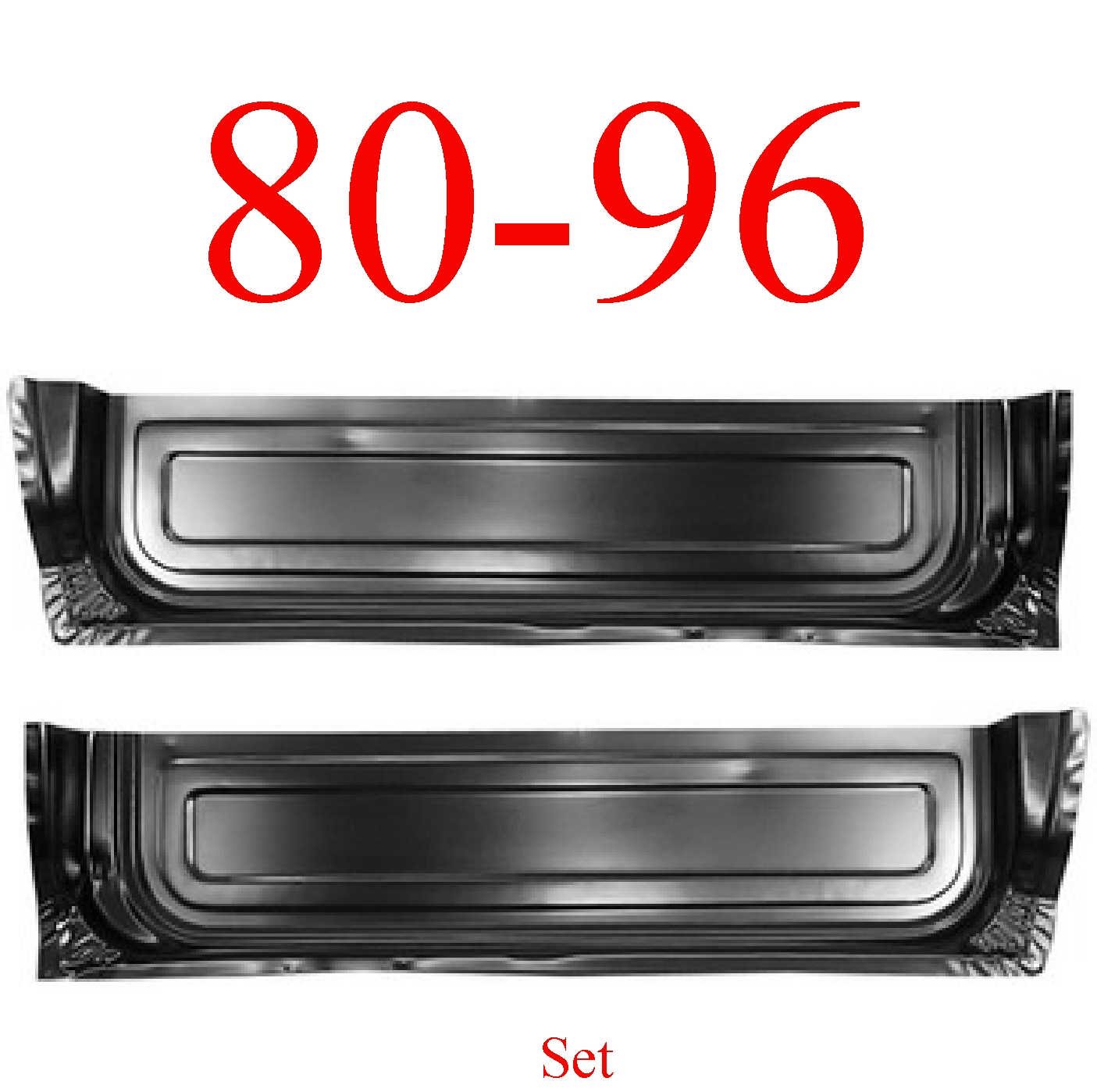 80-96 Ford Door Inner Bottom Set