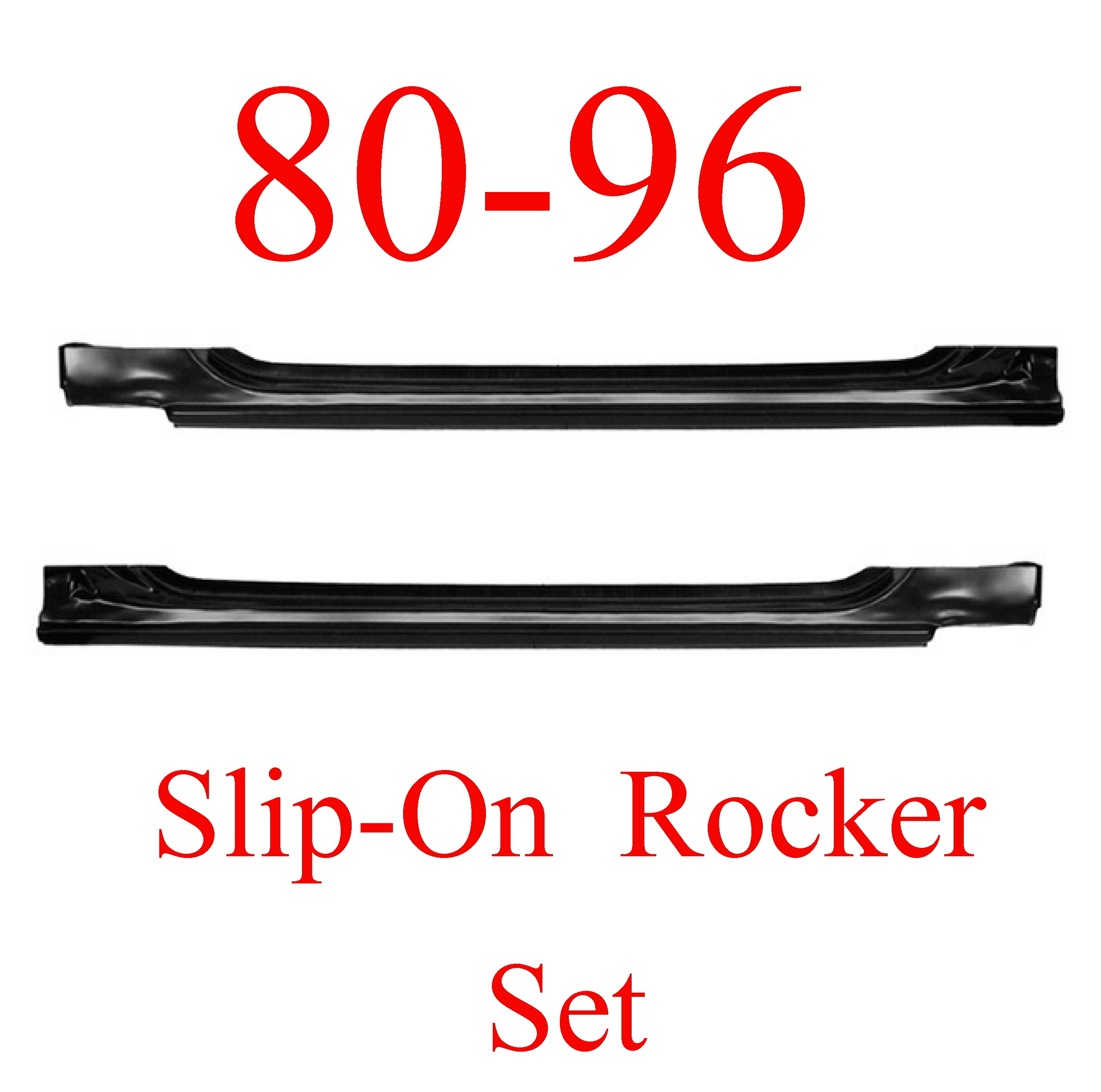 80-96 Ford Slip-On Rocker Panel SET Ford Truck & Bronco
